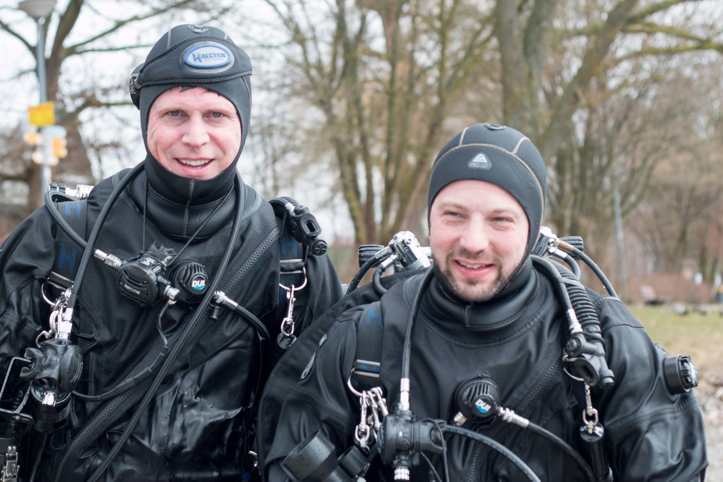 Dive buddies that were doing Tech diving this weekend