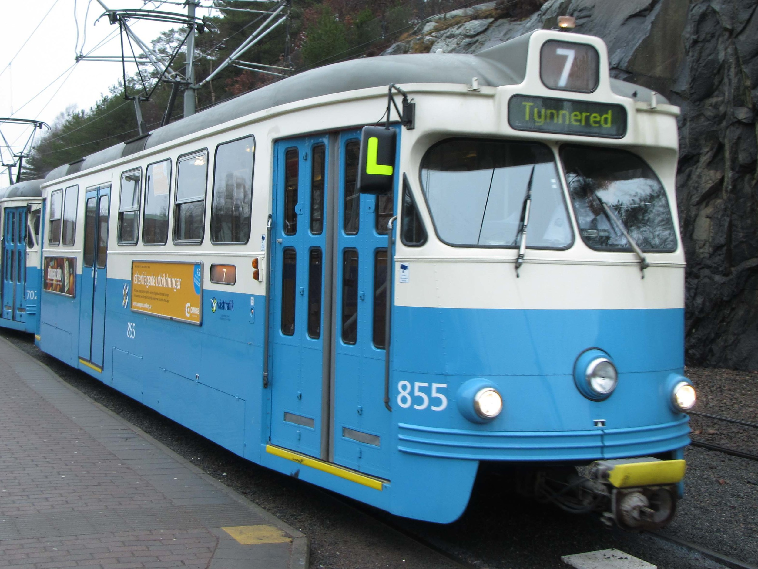Vintage tram in Gothenburg. This is the one we took to get to the Poseidon tour