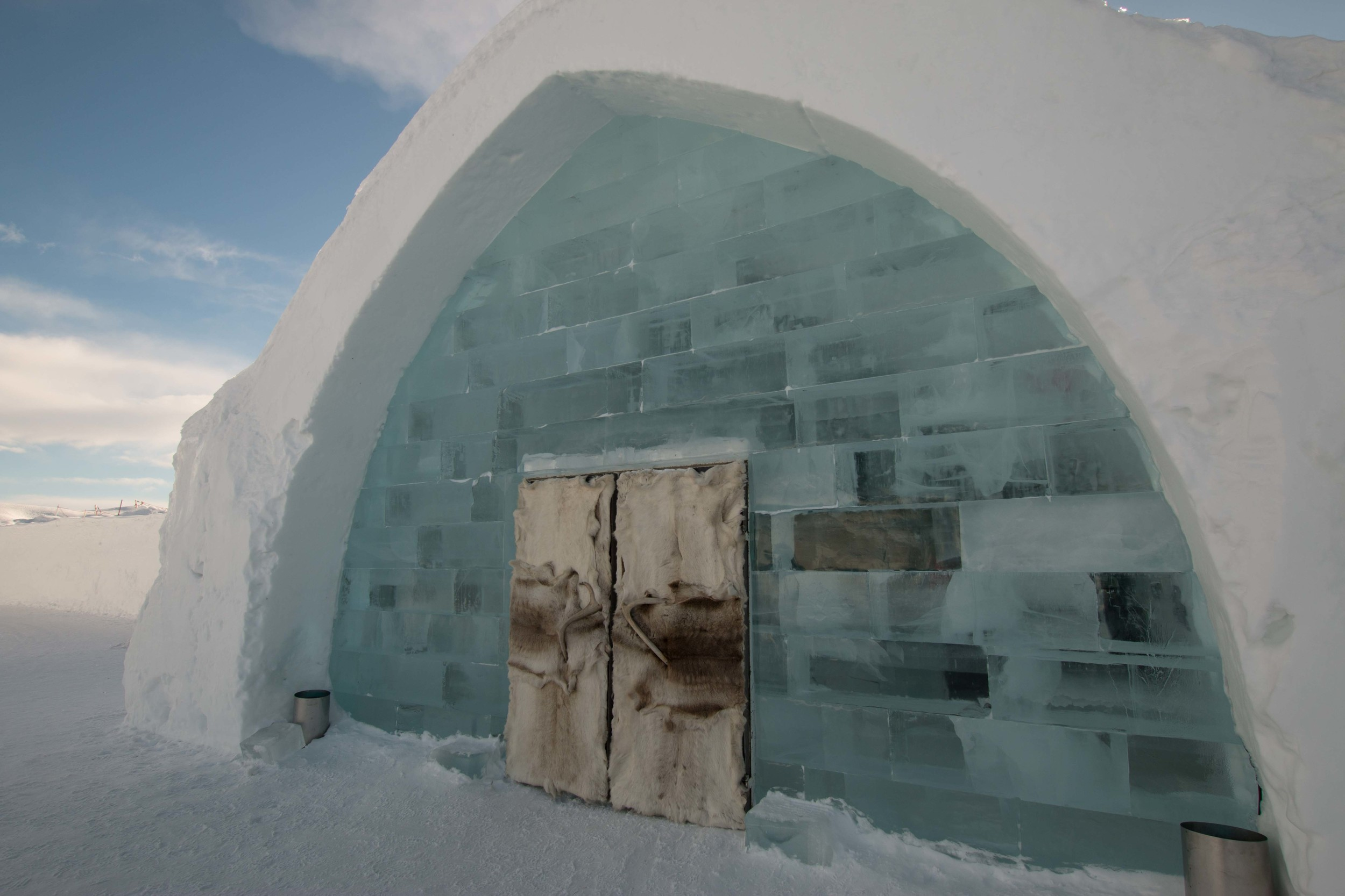 Main entrance into the ICEHOTEL