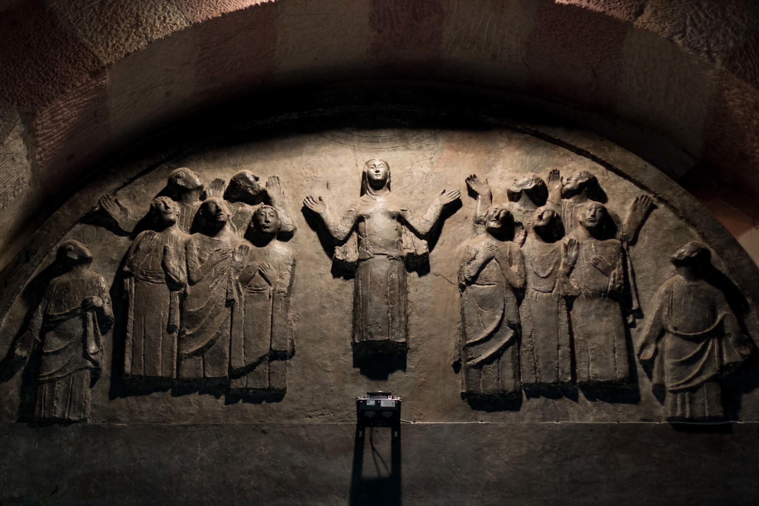 Sculpture over the main door to the Speyer Dom