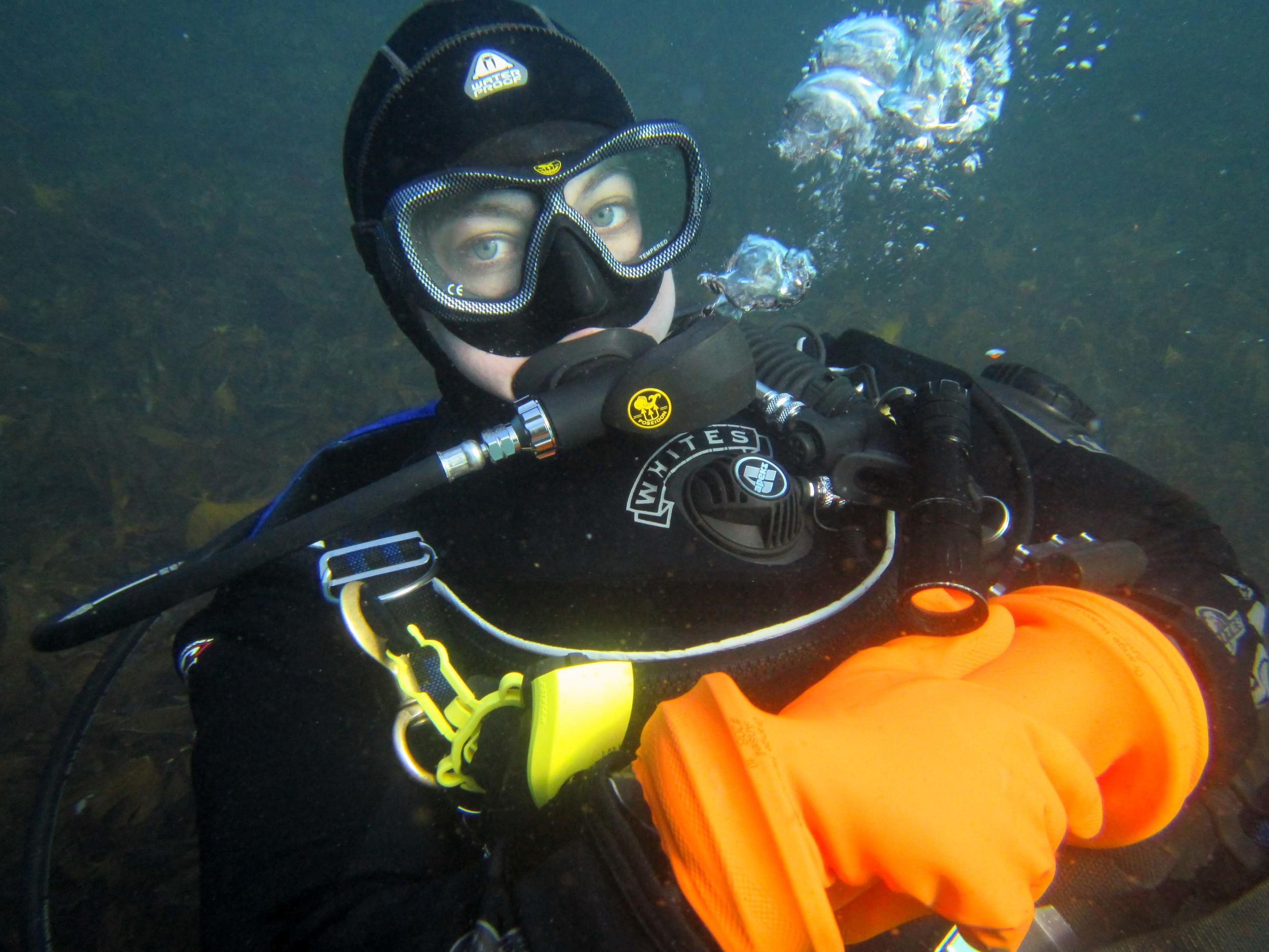 Just chilling underwater :)
