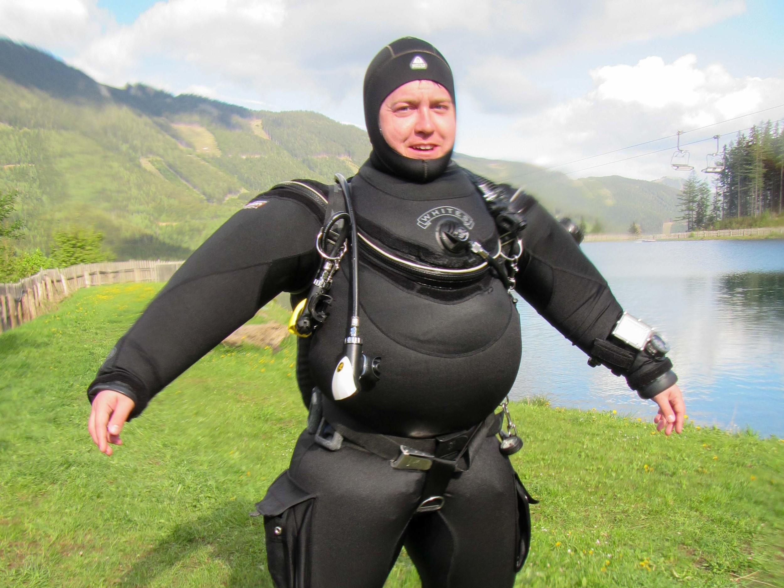 Fat man in a little suit?