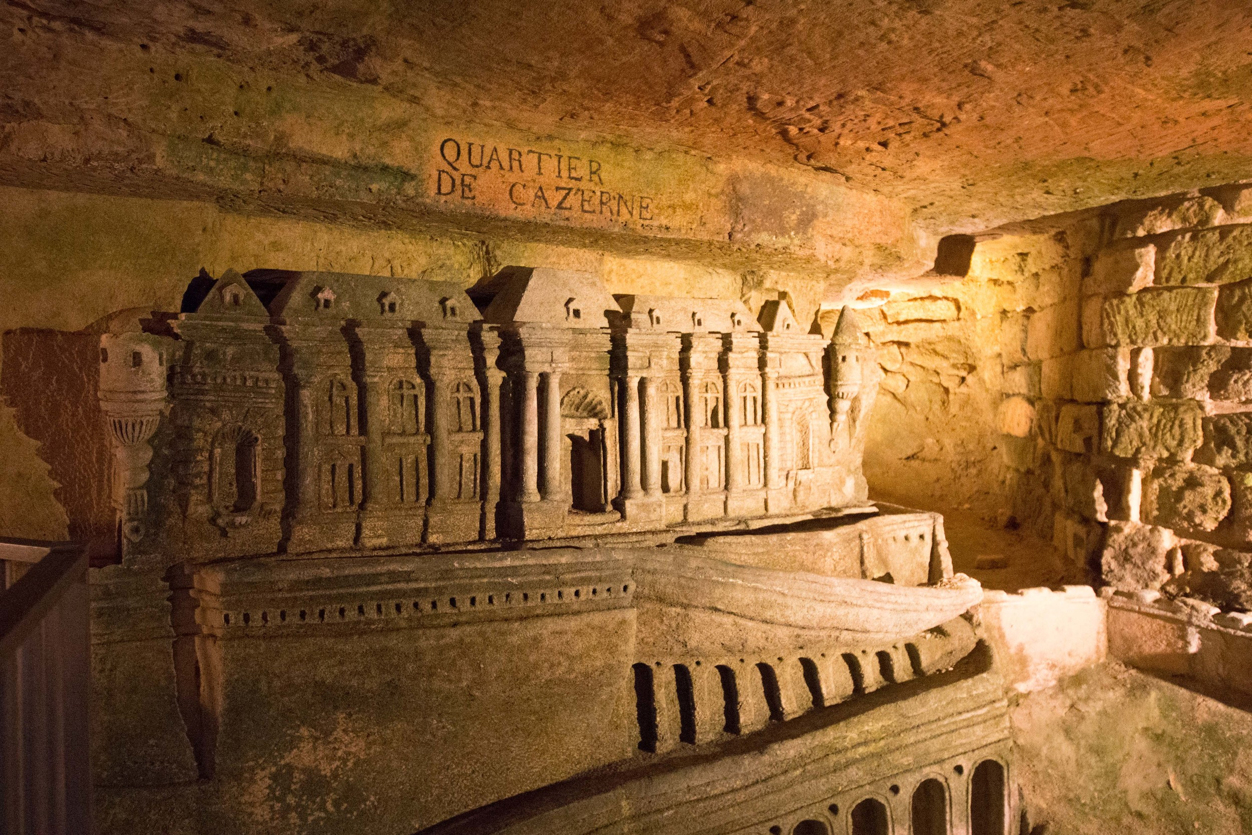 Remarkable detailed carvings in the tunnels