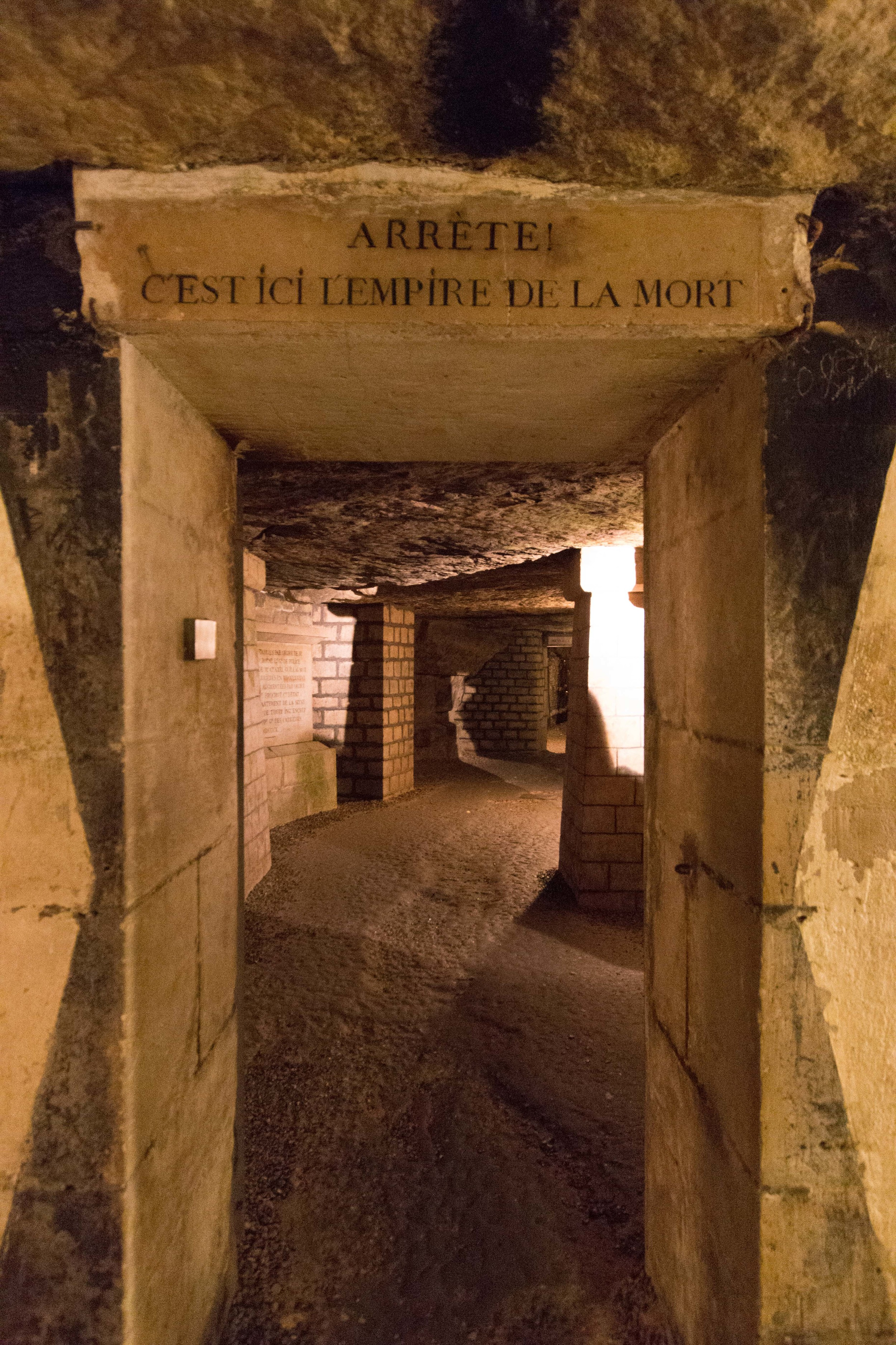 underground entrance to the catacombs