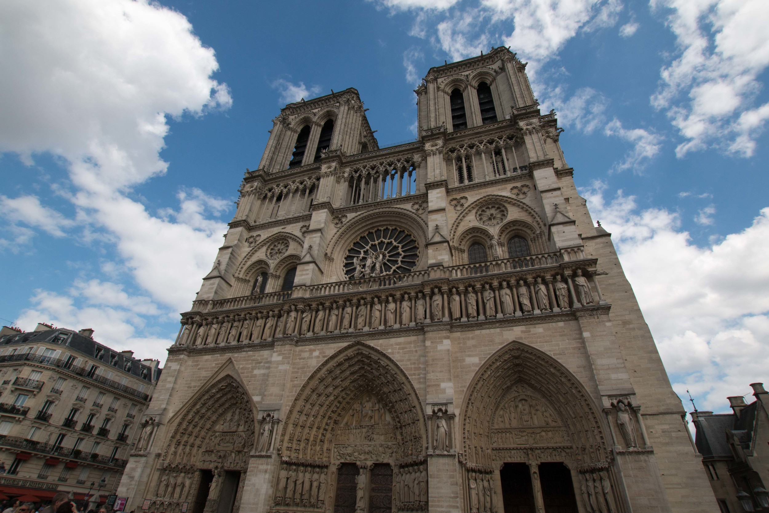 Main entrance to Notre Dame