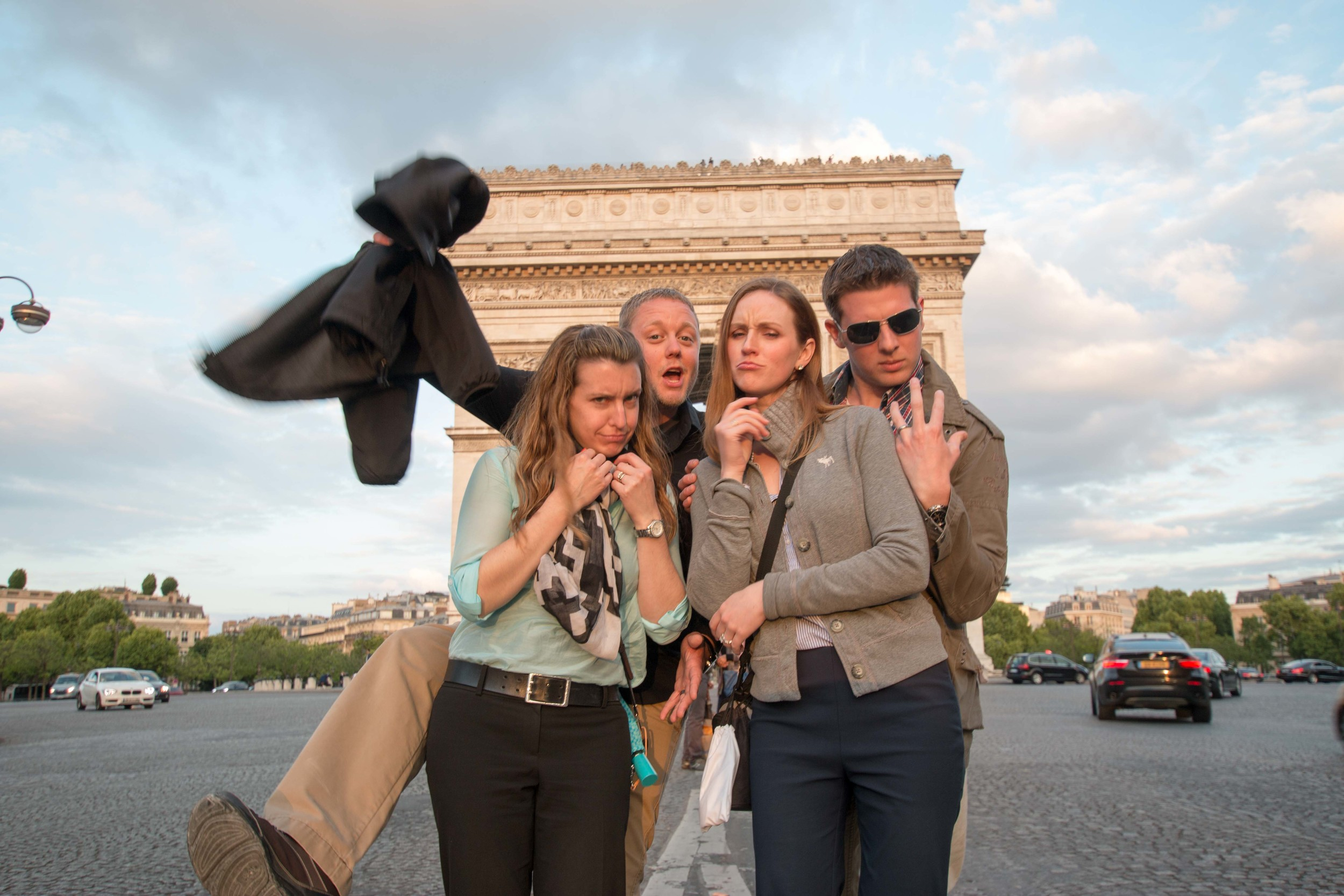 Sarah, Scott, Justine, And Andrew in Front of the Arc