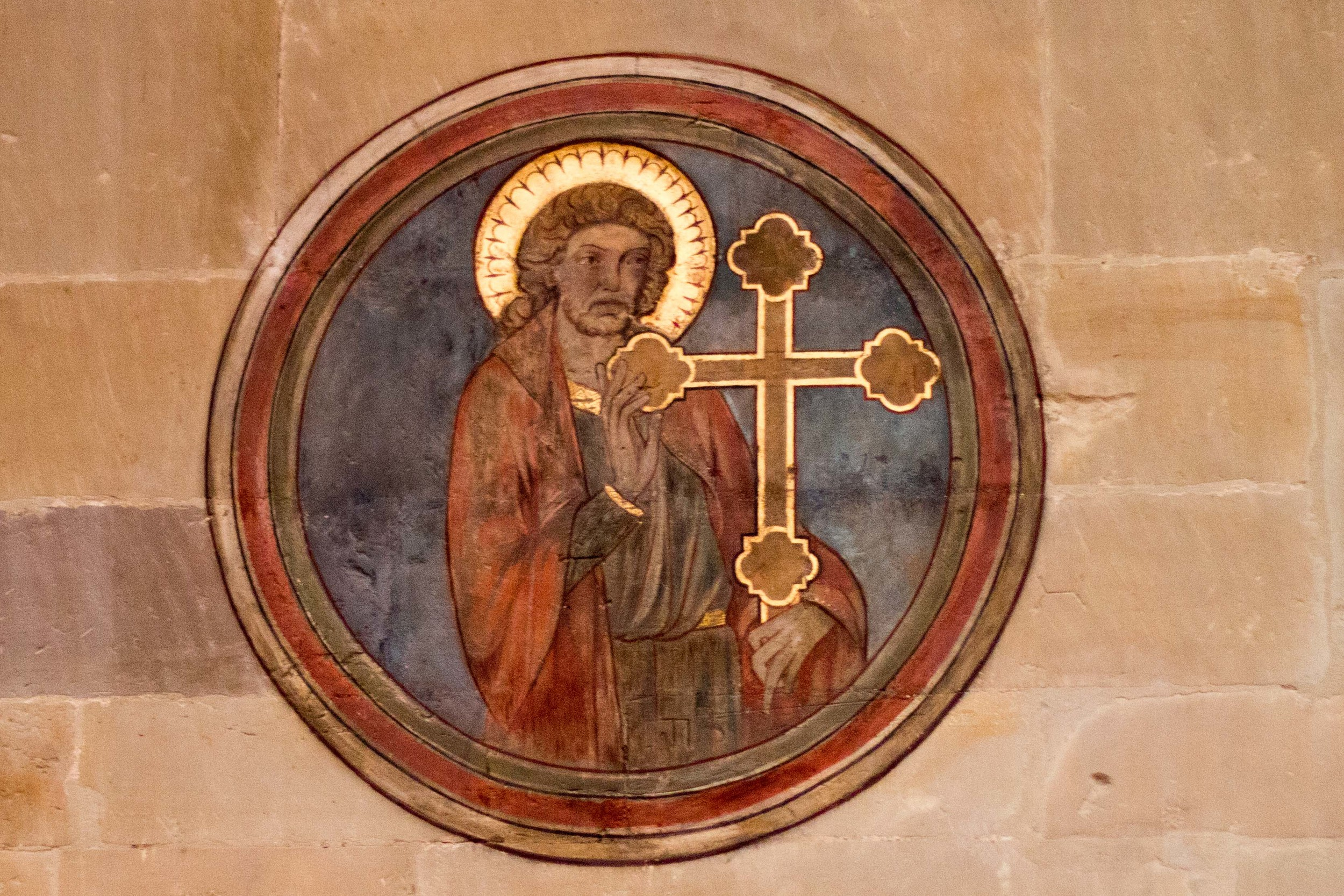 One of the many icons painted on the walls of the Church of our Lady