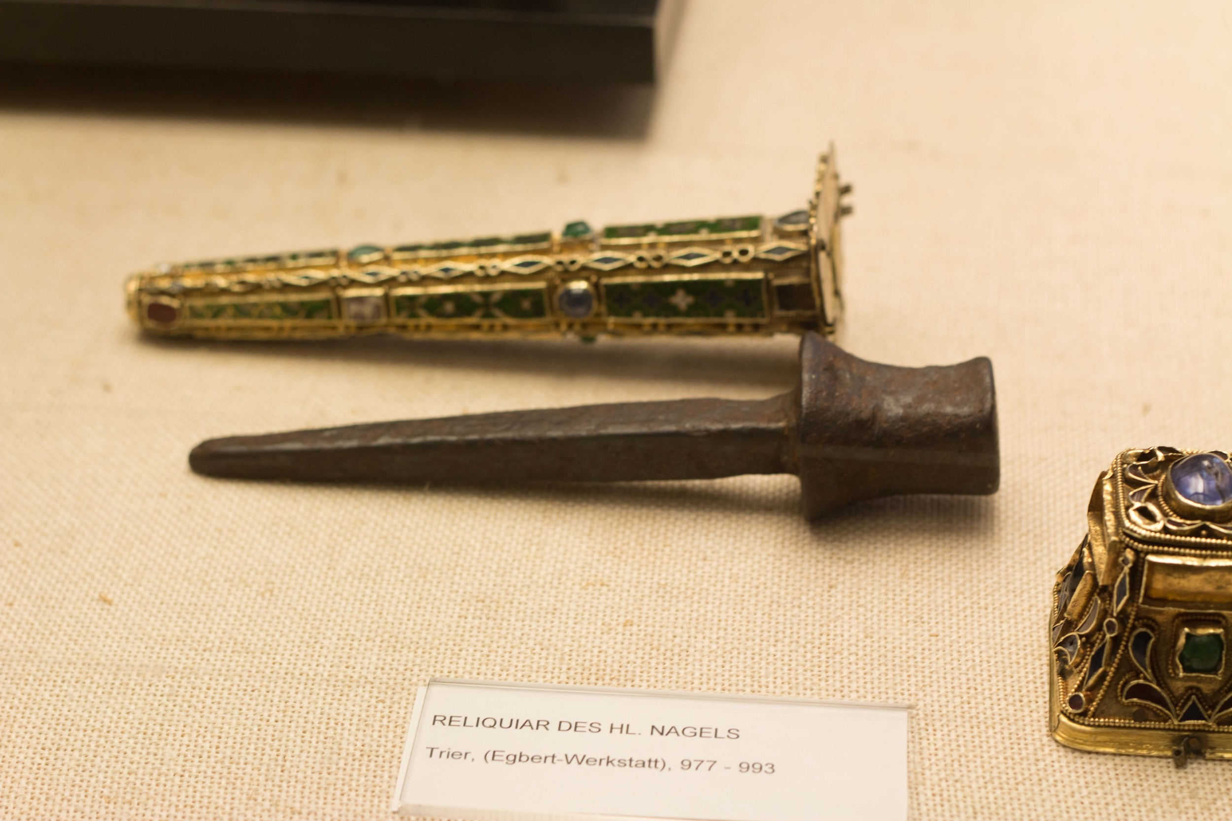 One of the nails used to nail Jesus to the cross.