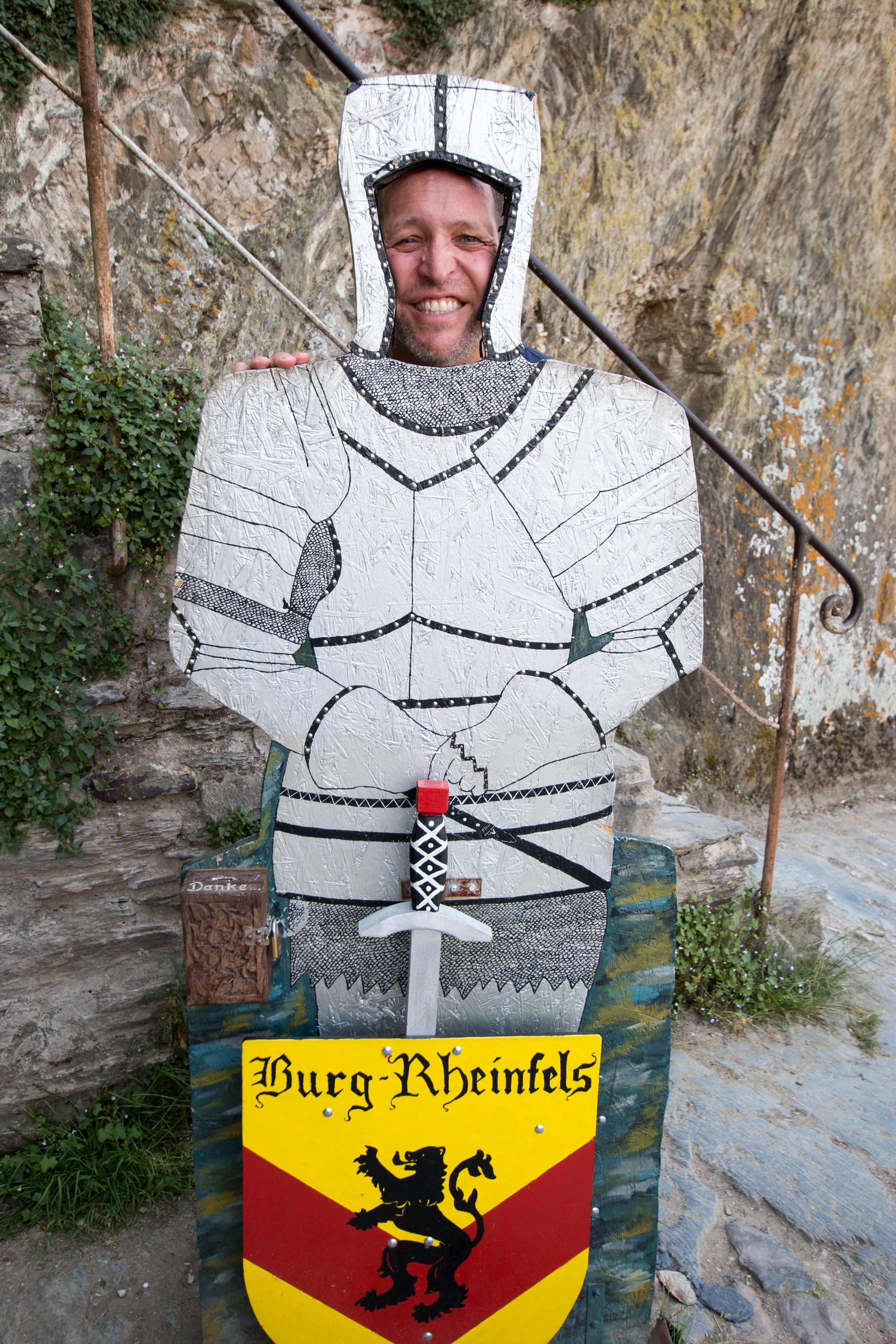 Carston as a knight!
