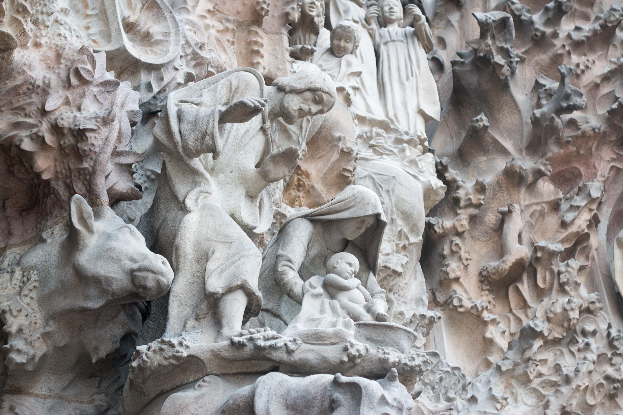 Manger scene on the Nativity Facade