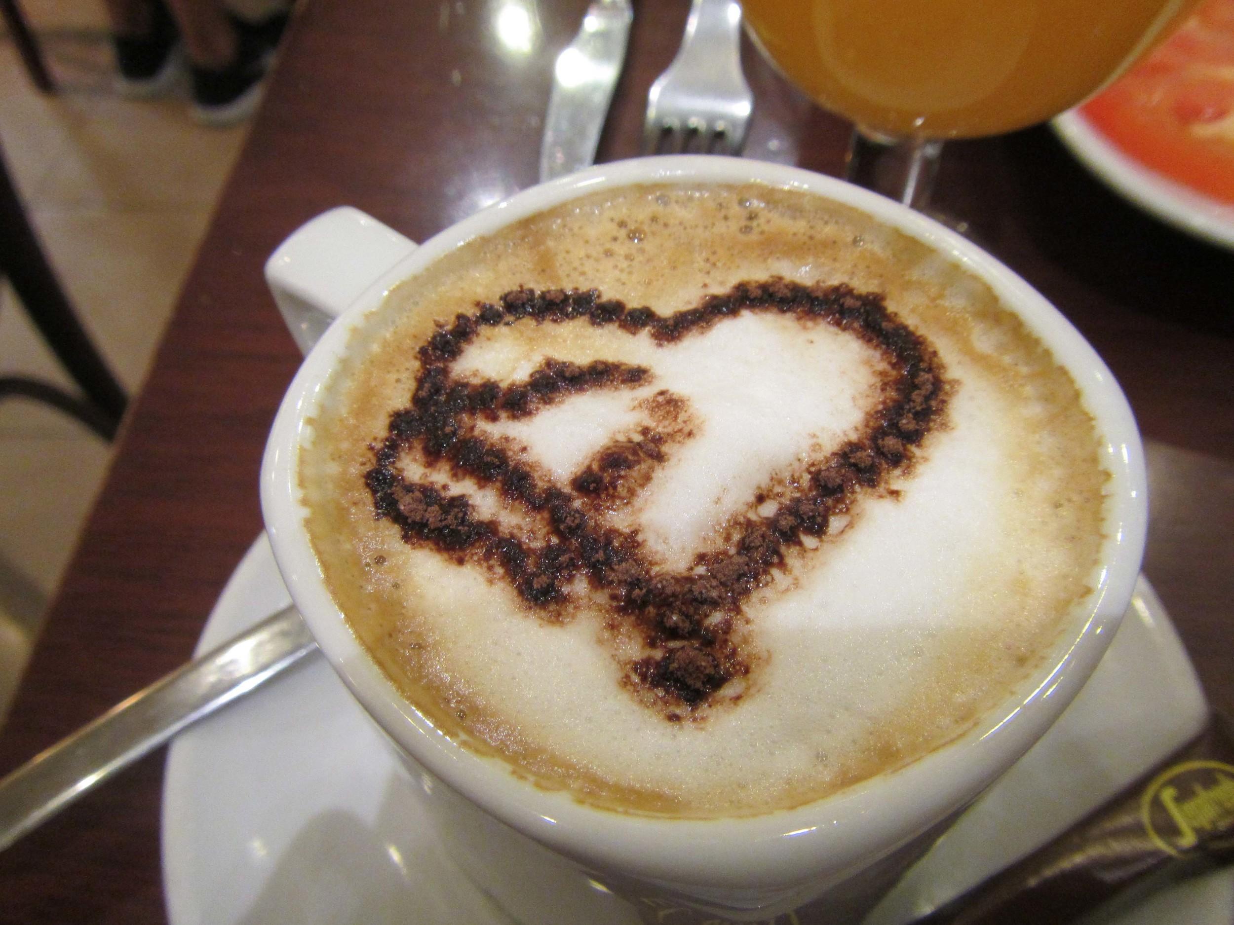 Aaron's coffee at breakfast