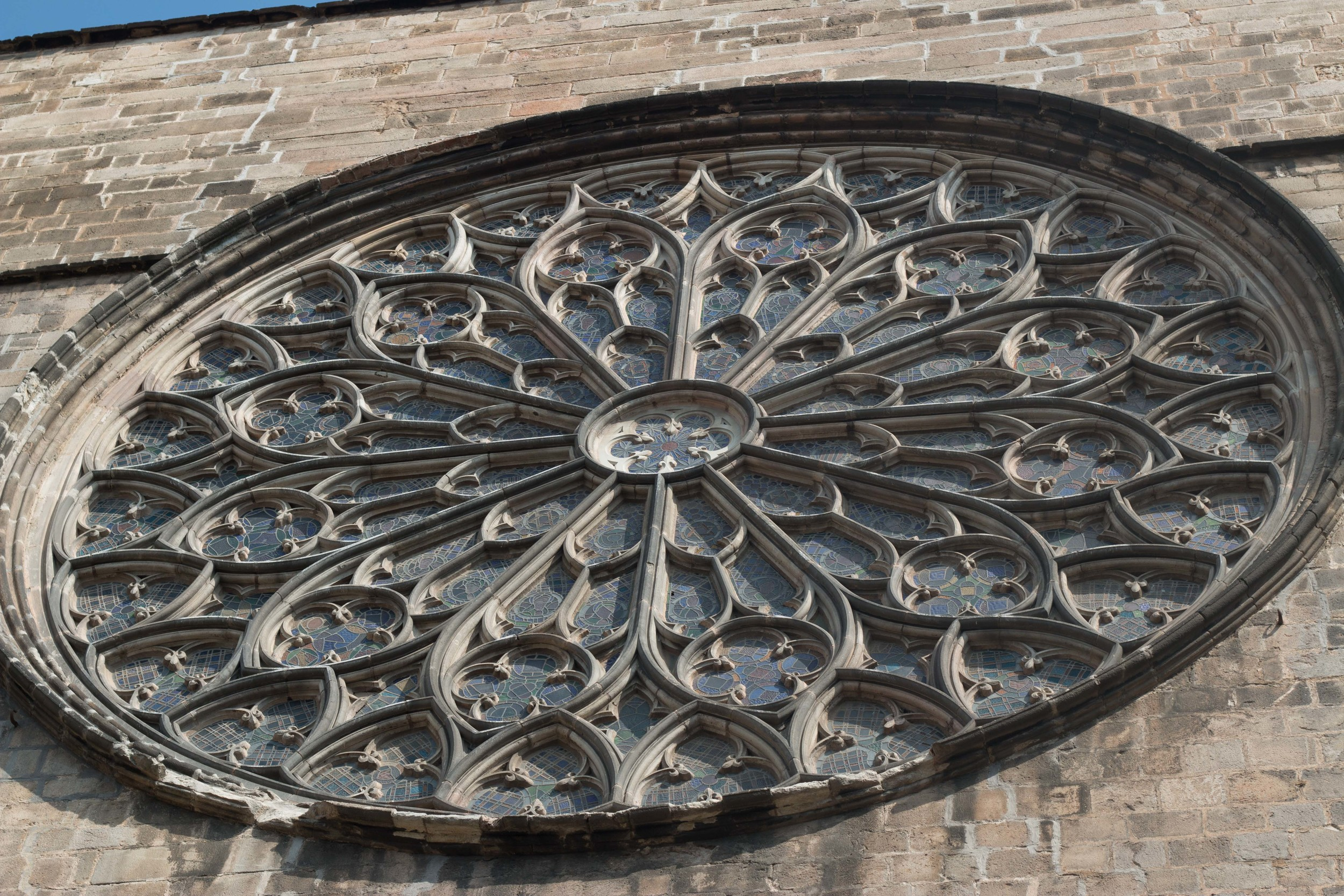 Rose Window at Placa del Pi, the second largest in the world