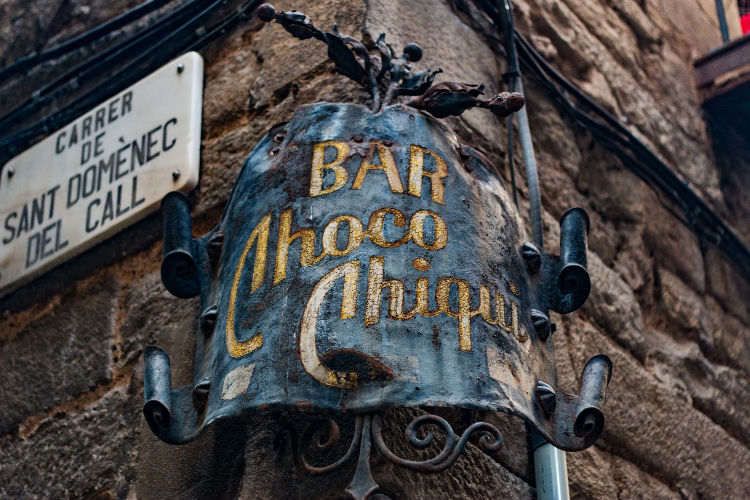 Cool bar sign in the gothic Quarter