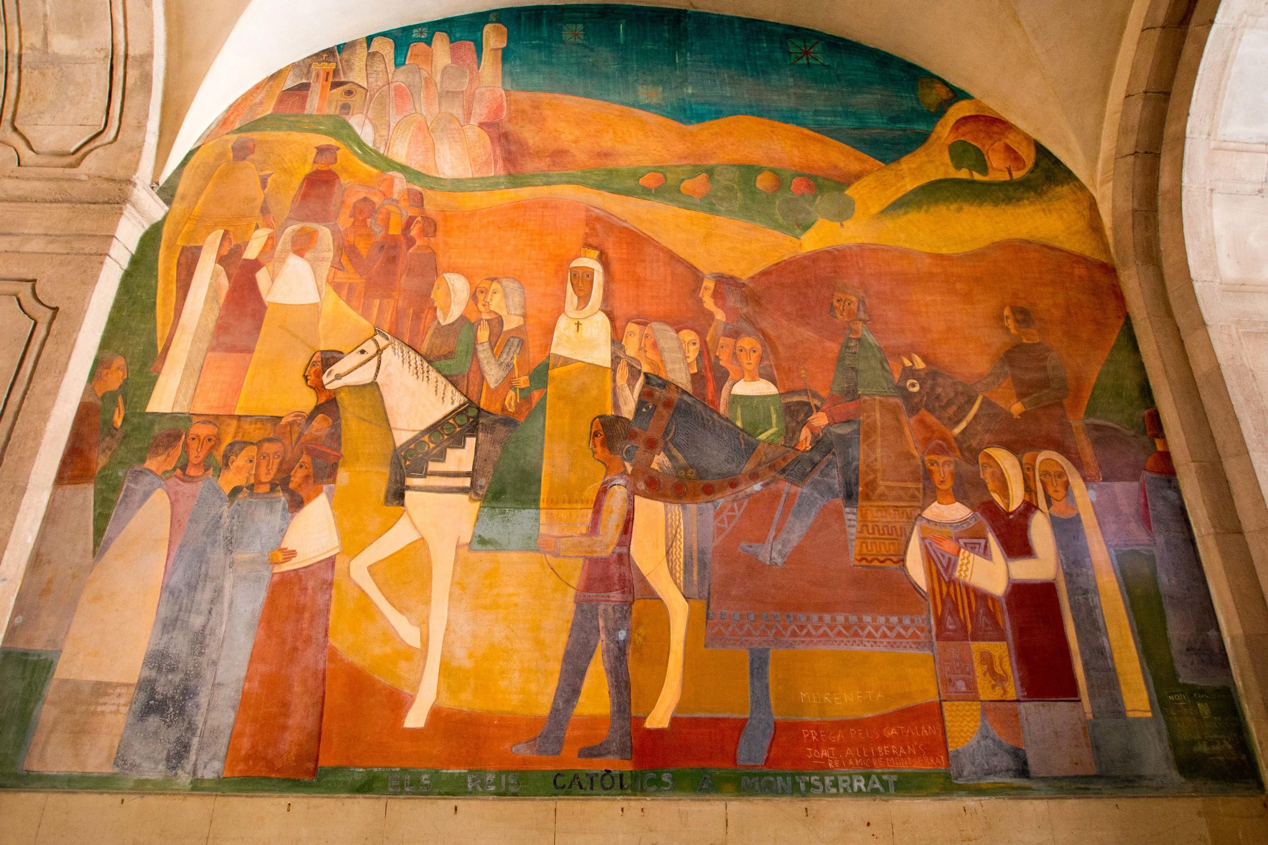 Pilgrims visiting Montserrat