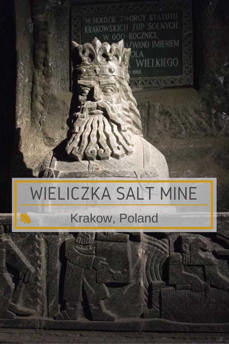 rock Salt Statue of King Kazimerz in Wieliczka Mine