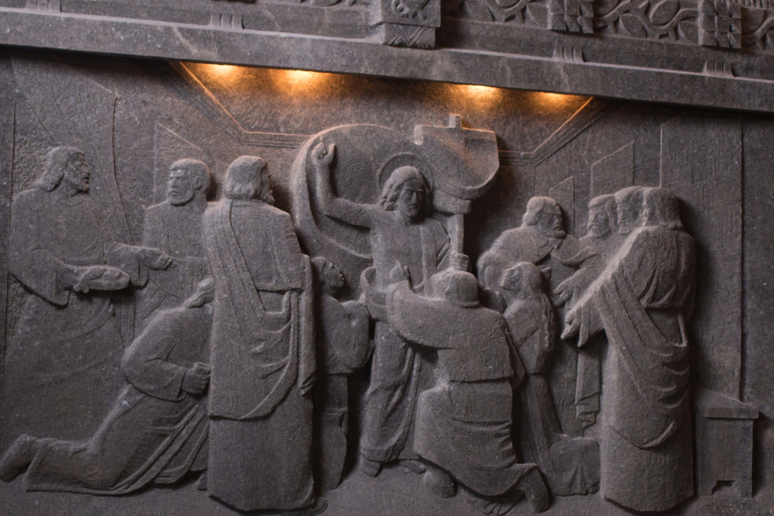 ROCK SALT Relief IN ST. KINGA'S CHAPEL