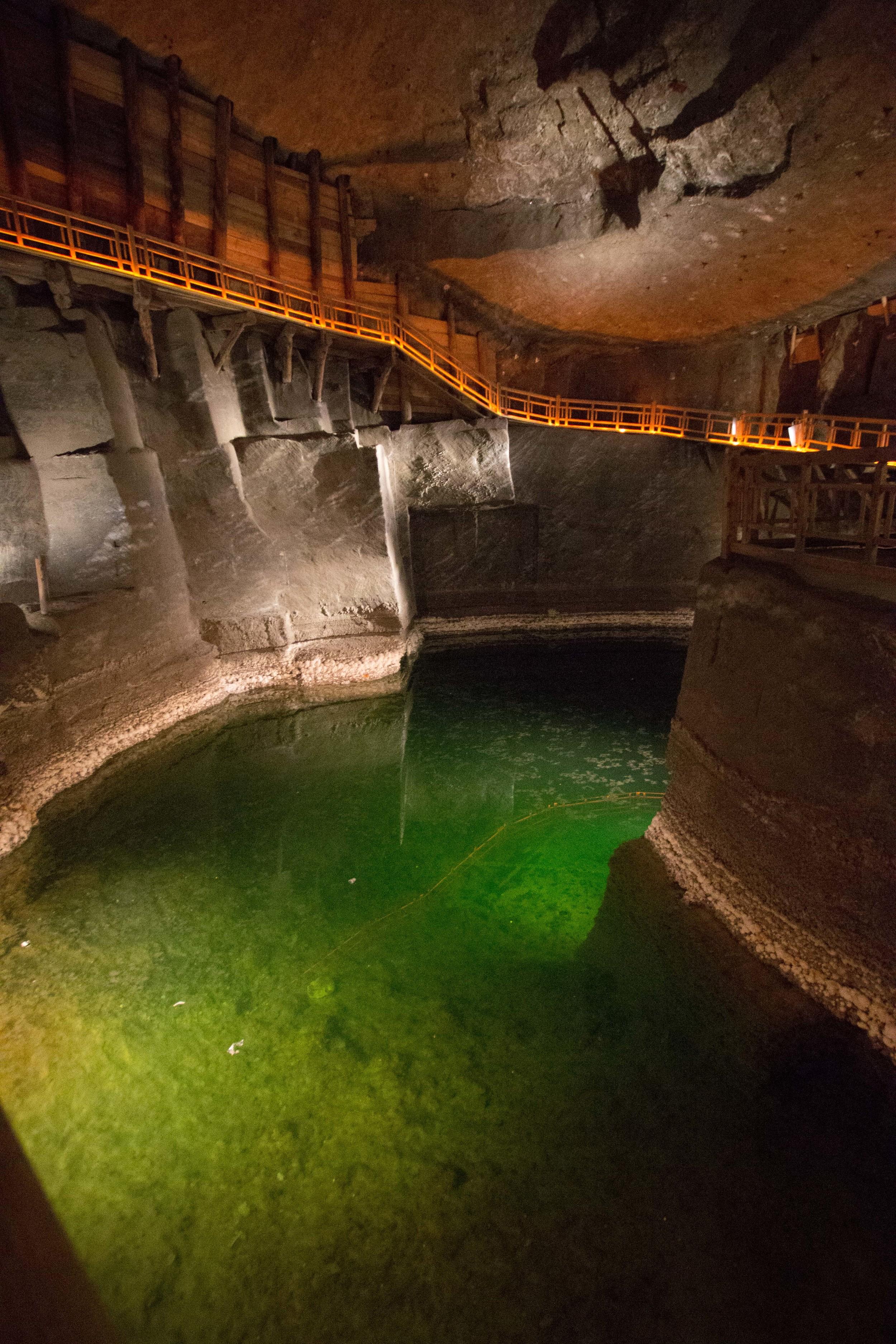 salt lake in the mine