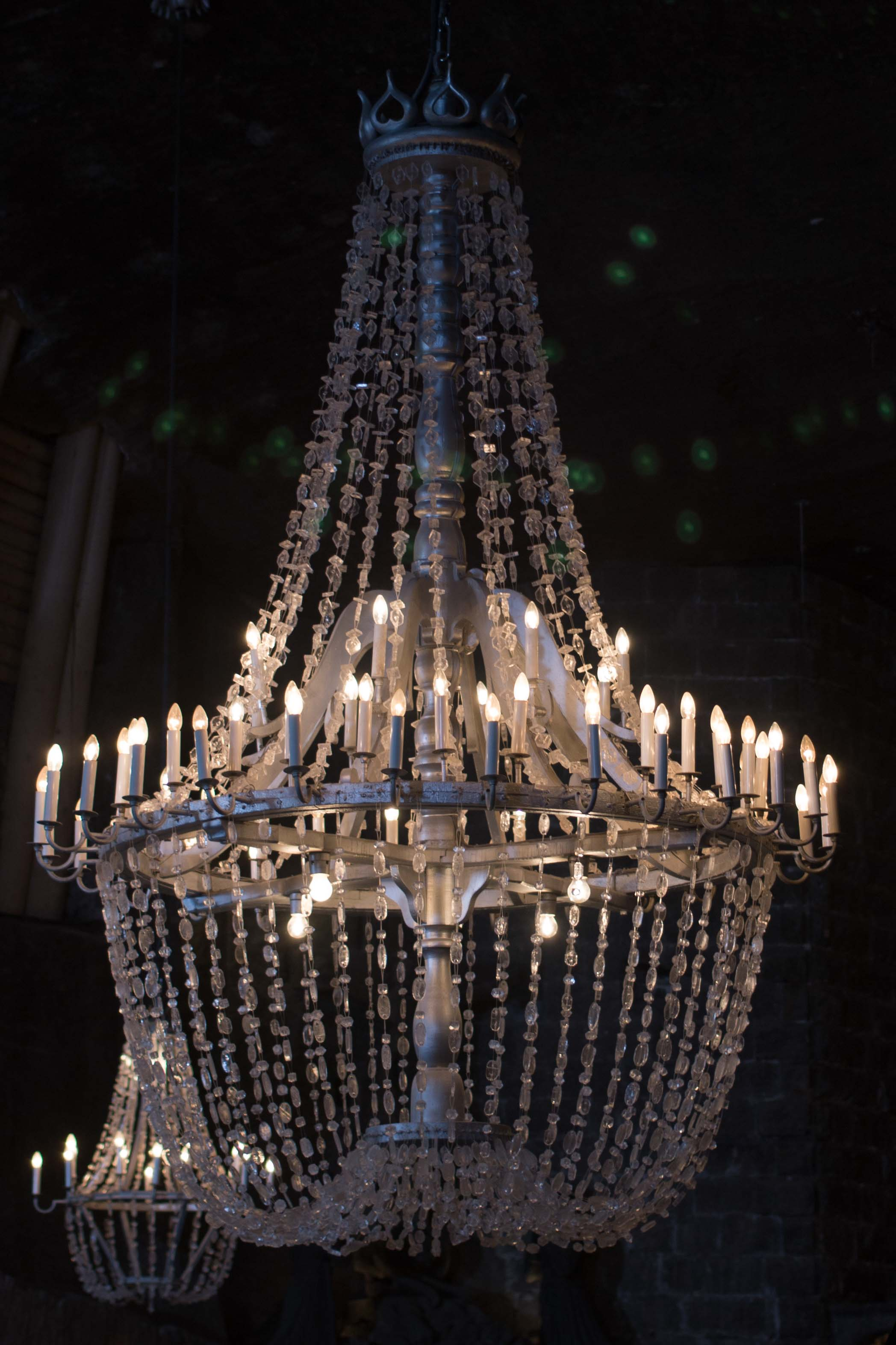 Chandelier made completely from Salt in St. Kinga's chapel