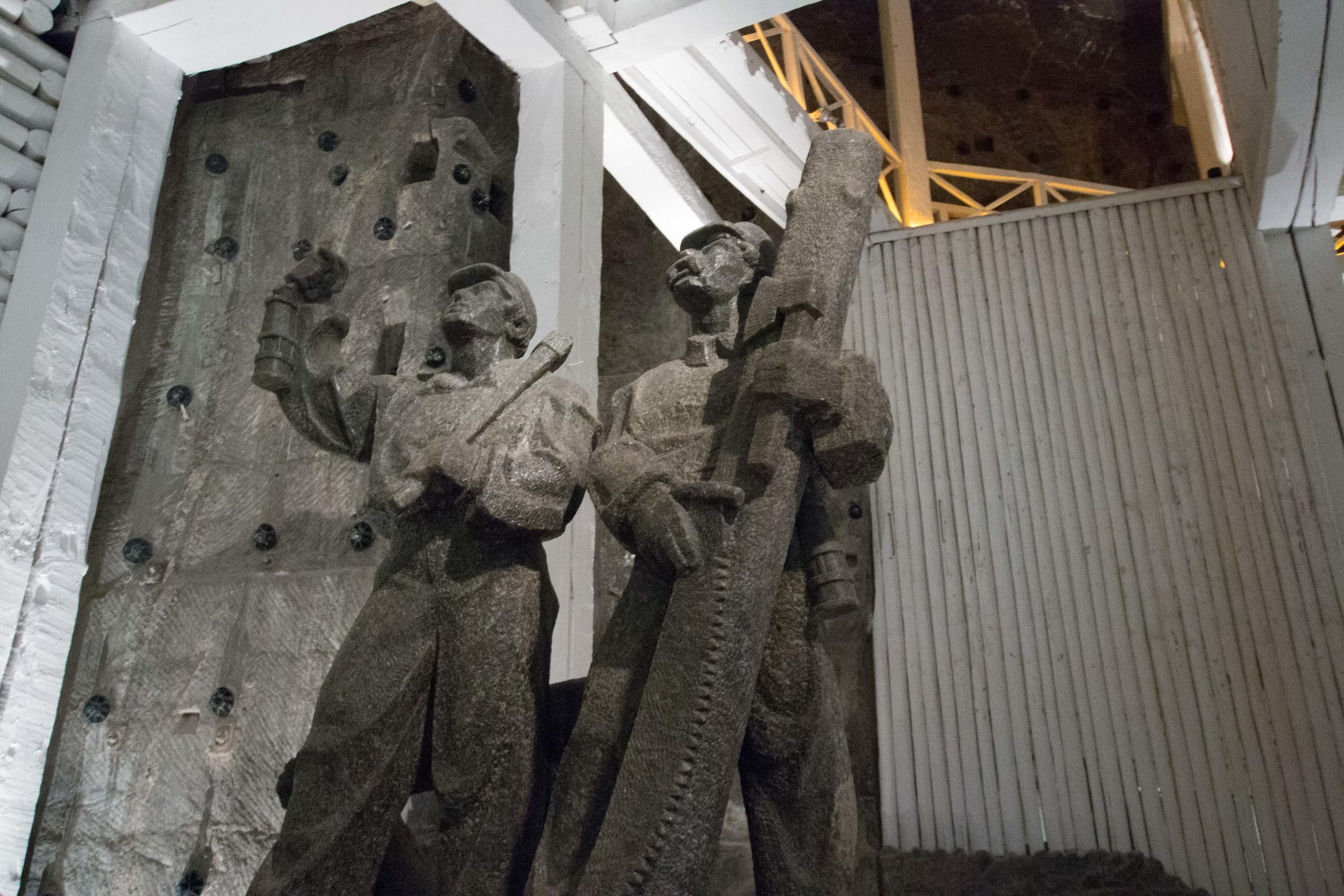 Miner statues