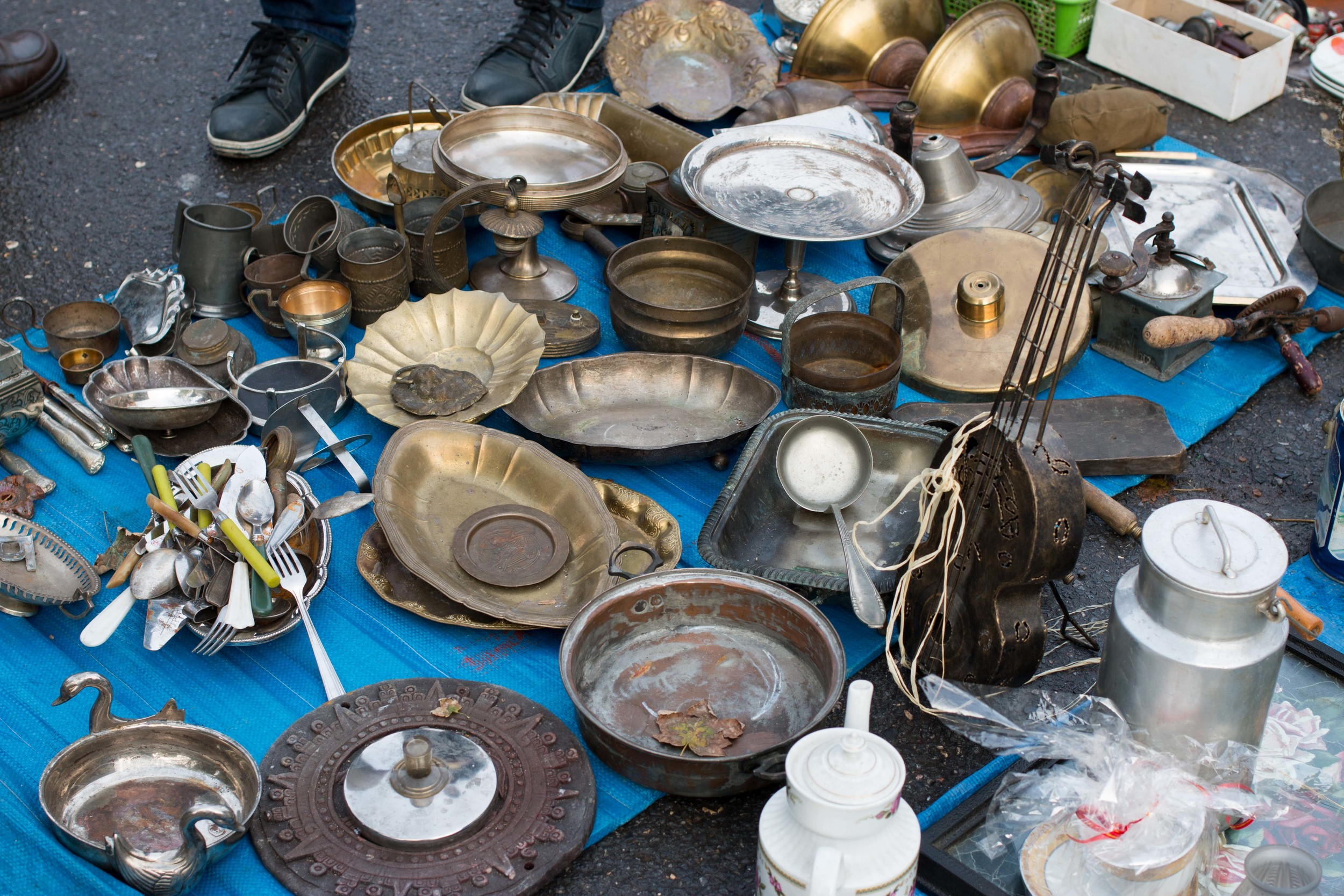 Some finds at the Hala Targowa Flea Market. You could buy everything from shoes, clothes and household items to World War II and Communist Era items.