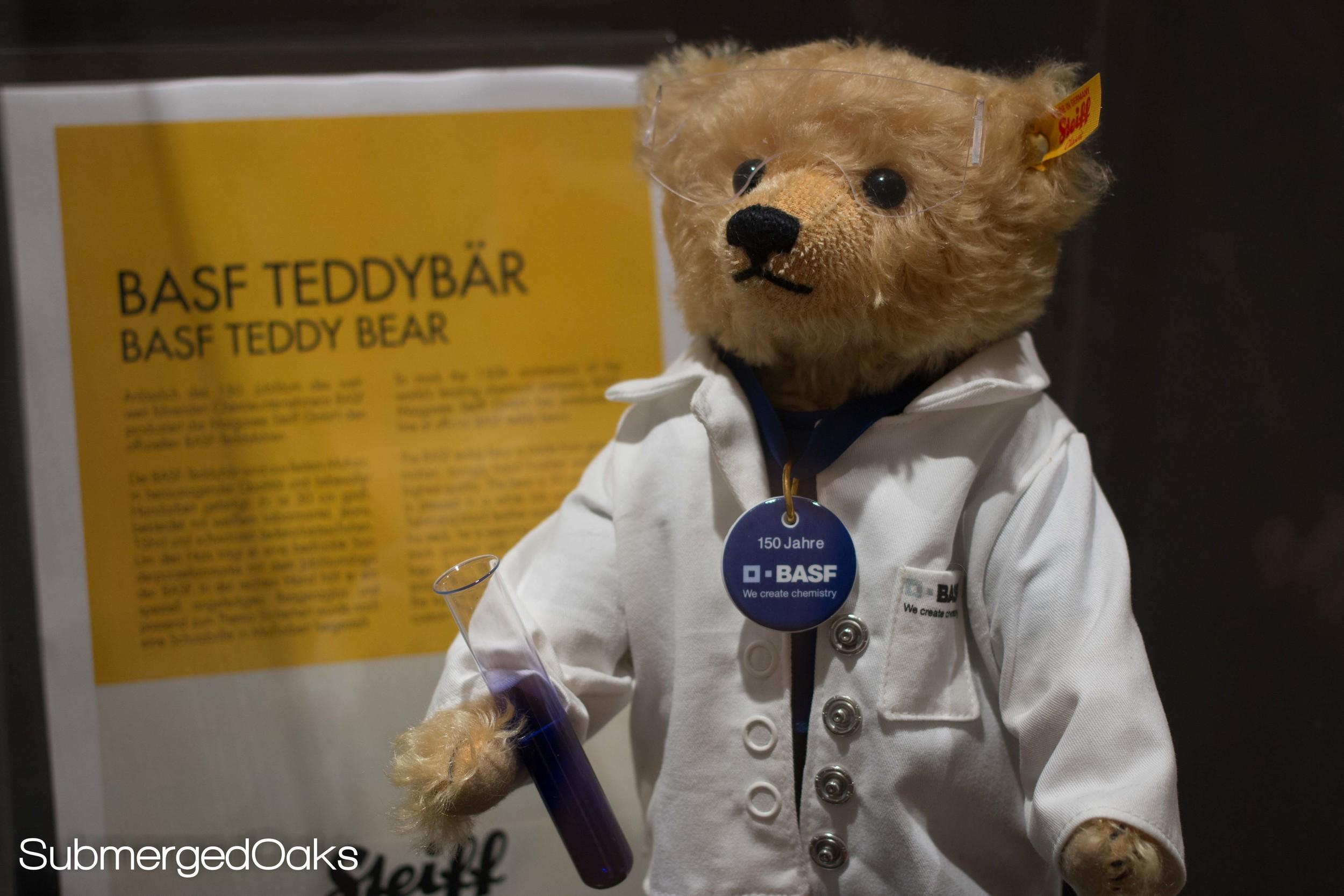 BASF Steiff Teddy bear to celebrate the 150th anniversary of BASF