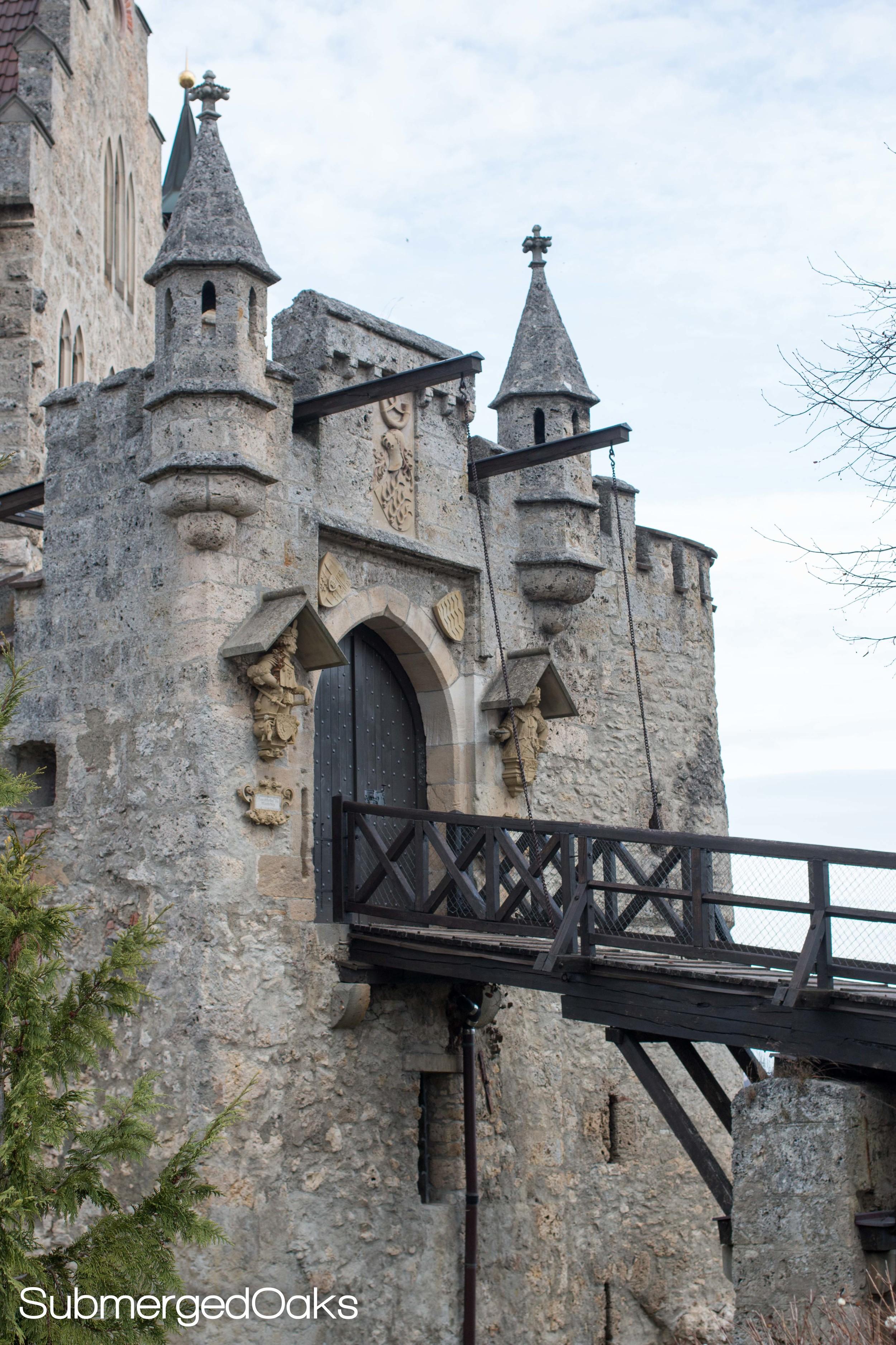 Drawbridge leading to the castle