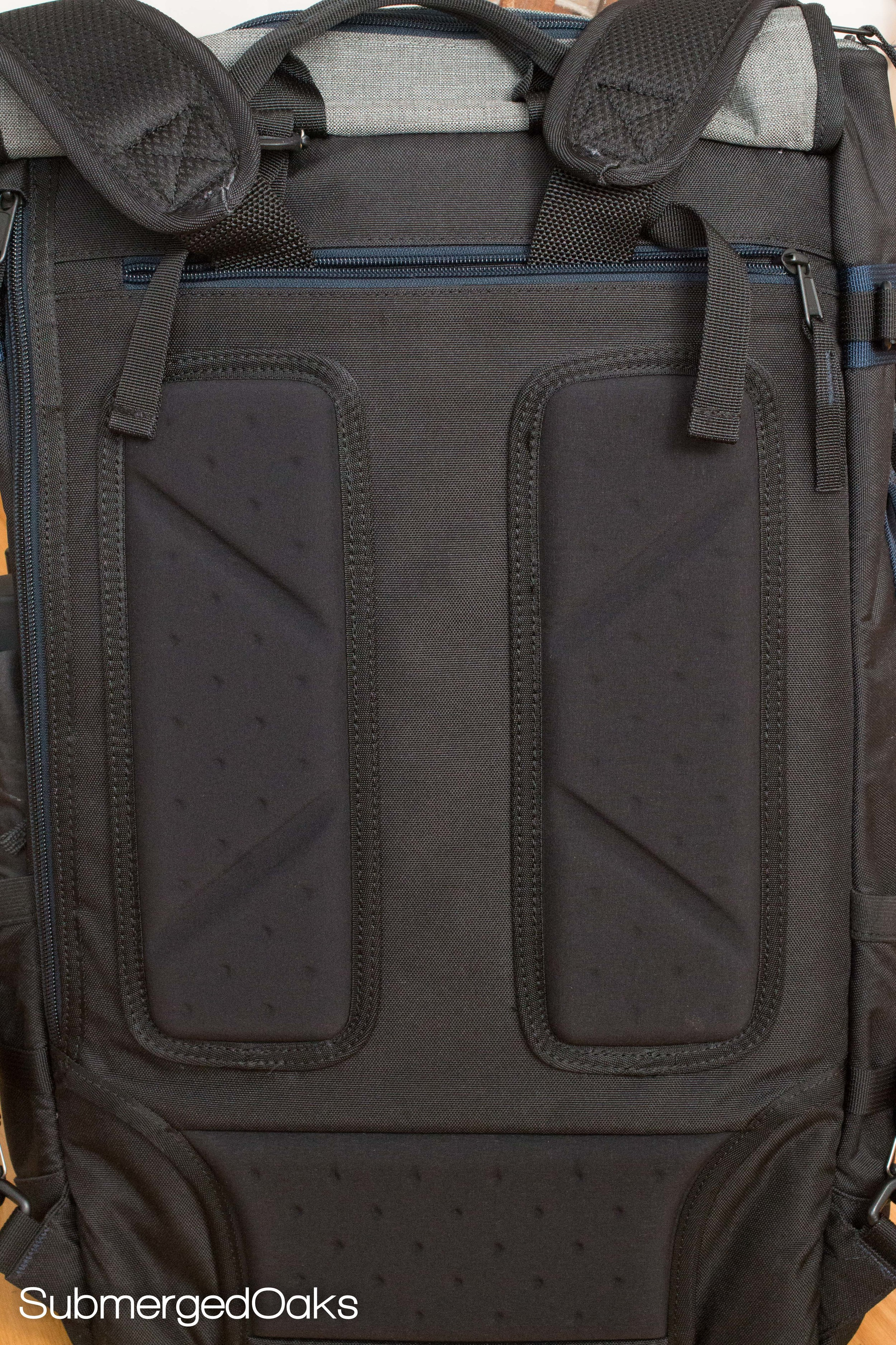 Generous padding on the back makes it more comfortable to carry