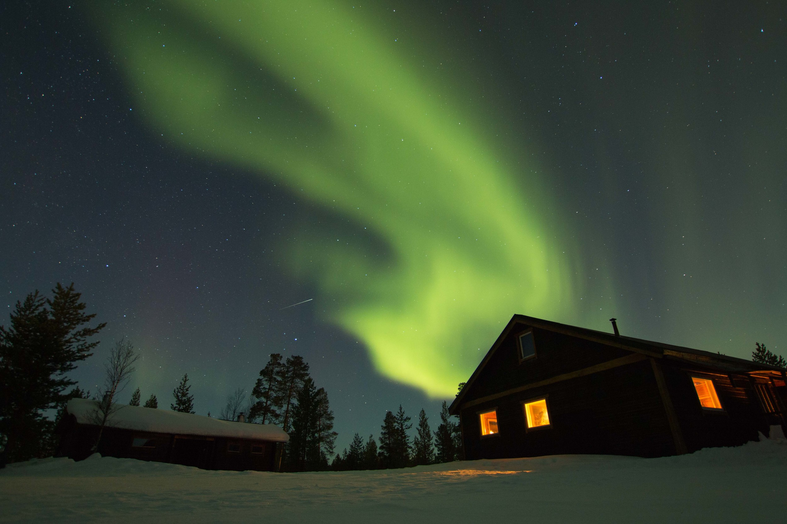 Northern Lights over our cabin