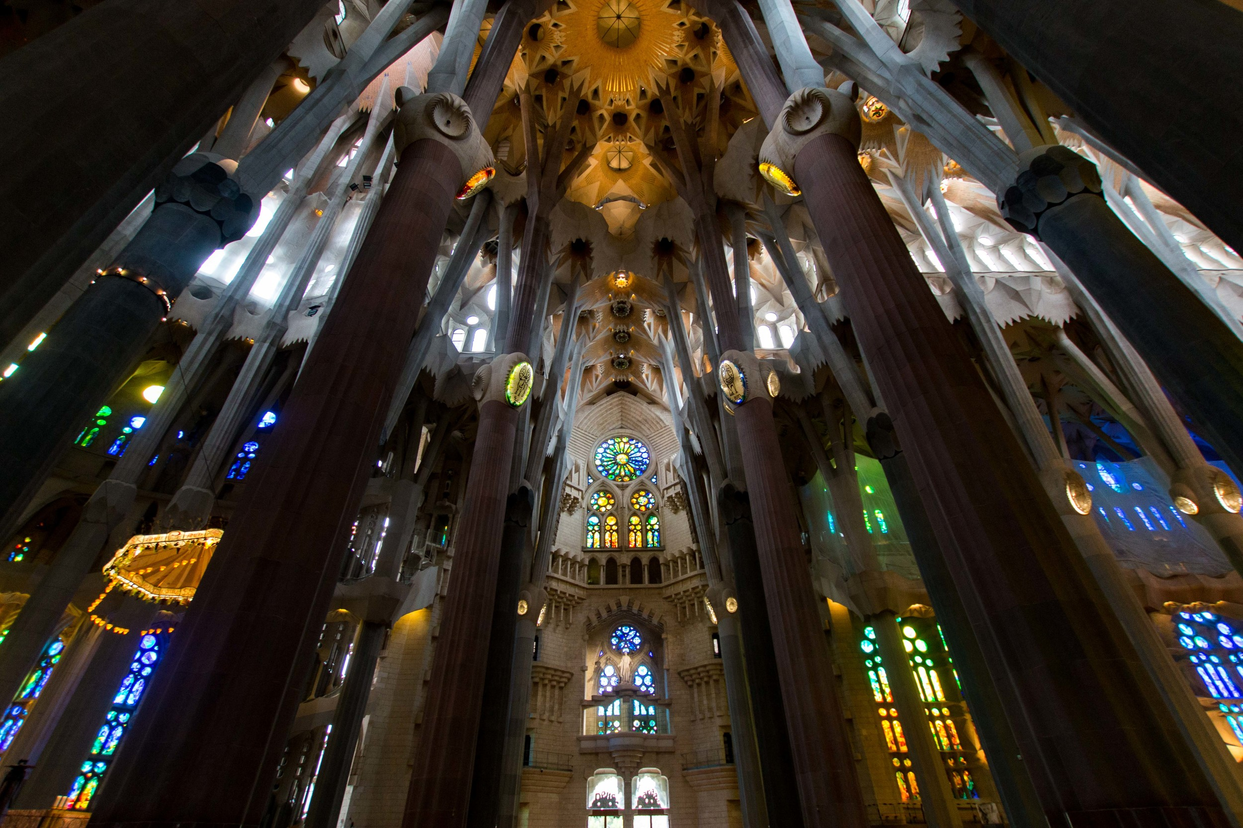 Interior of Sagrada Familia. Pictures do not do this place justice!