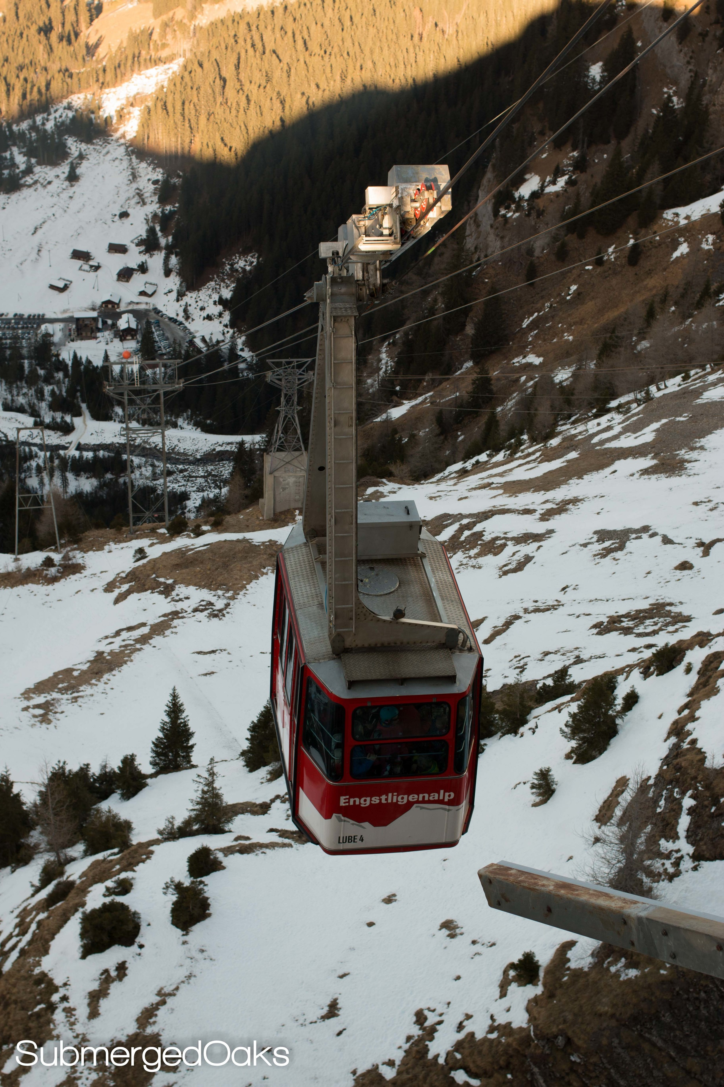 Cable car we took to ride to the top of the mountain