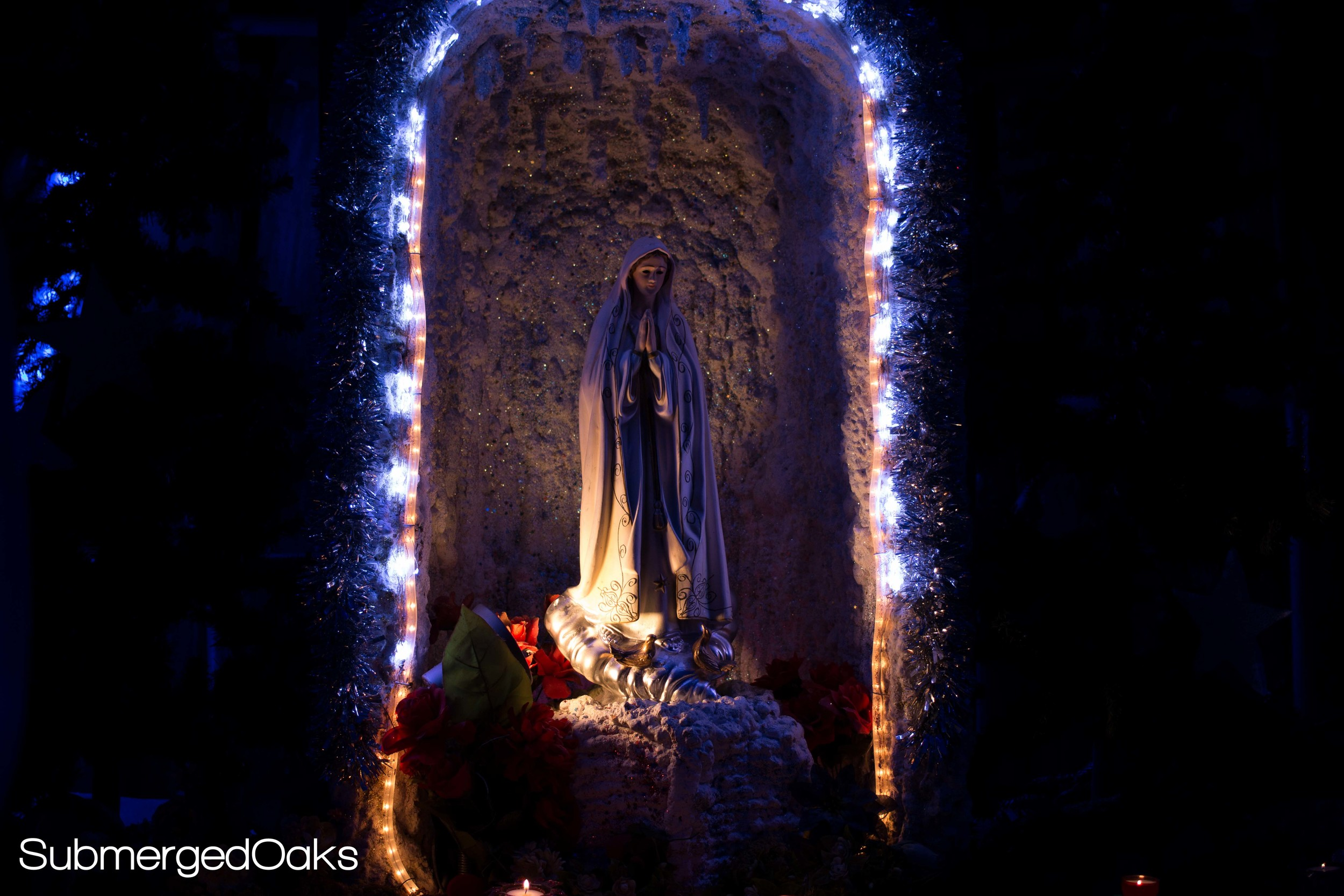 Small grotto with statue of Mary