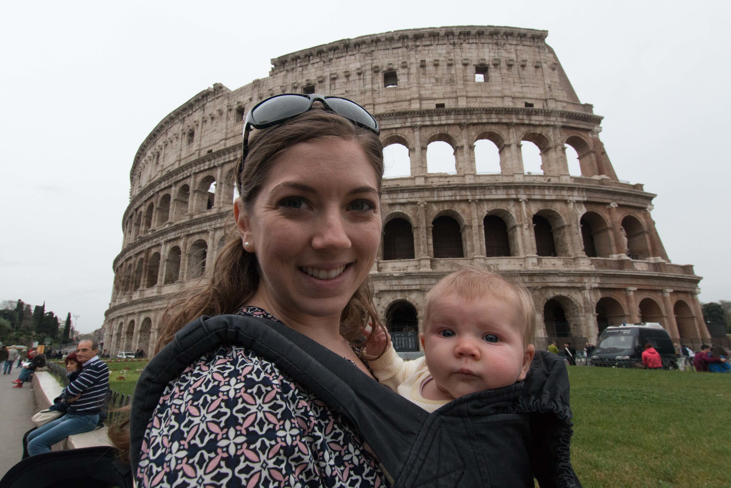 Evelyn and I in front of the Colosseum