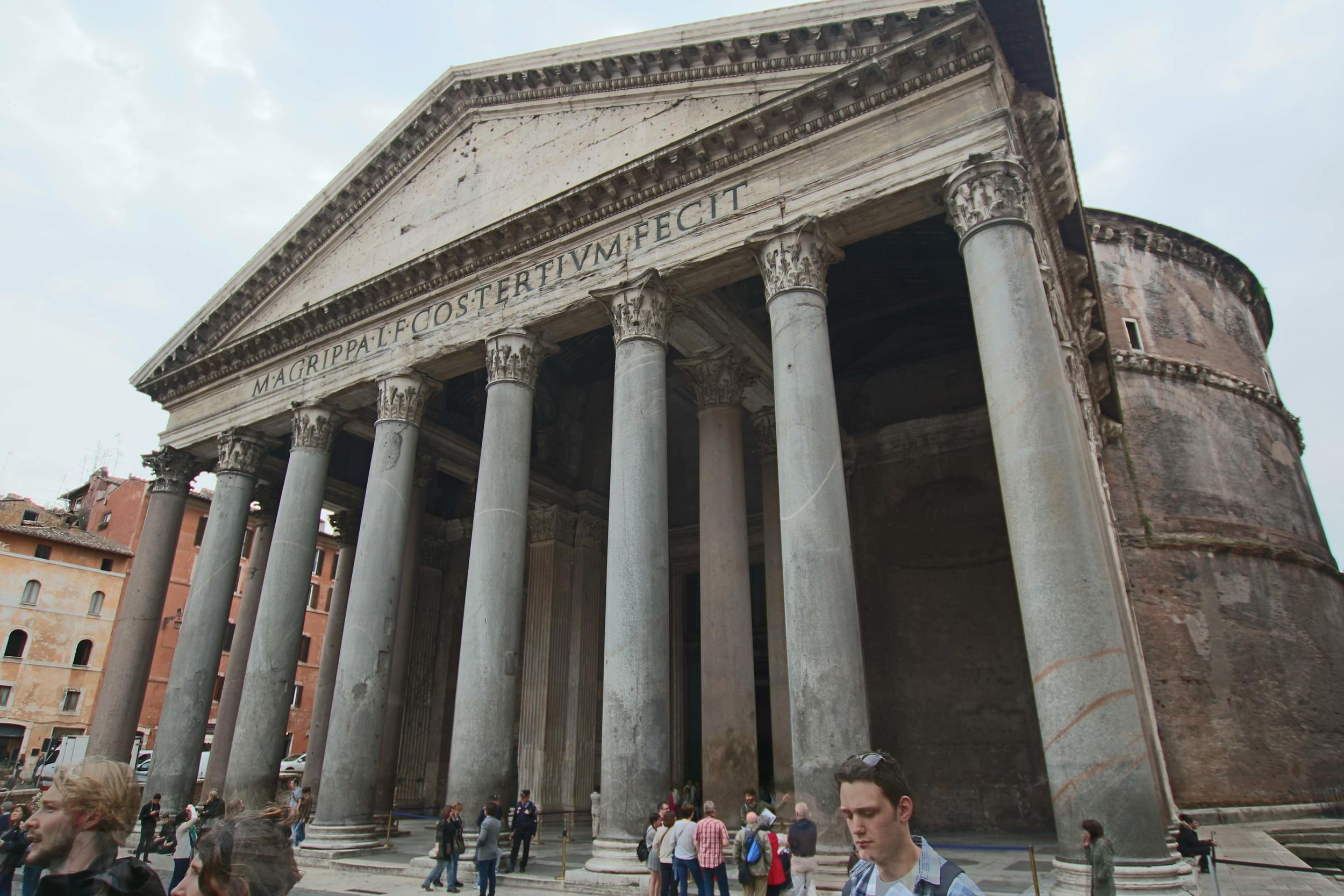 Those columns are massive!