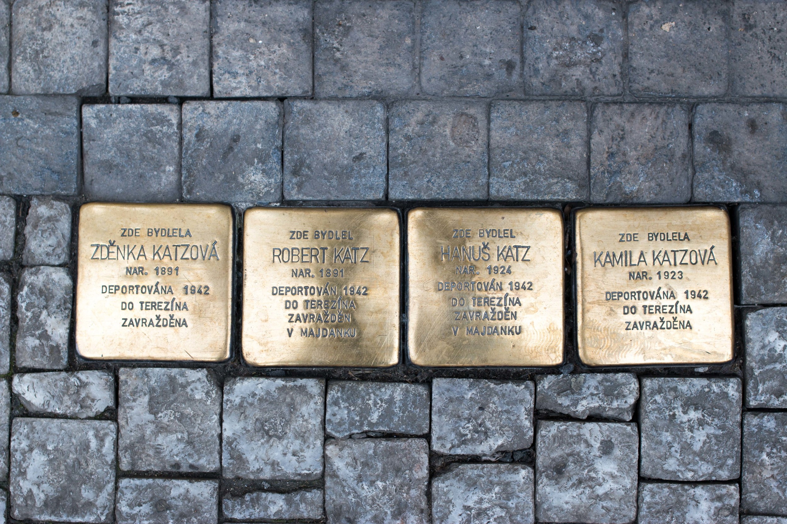 Prague. An entire family deported to Theresenstadt in 1942.
