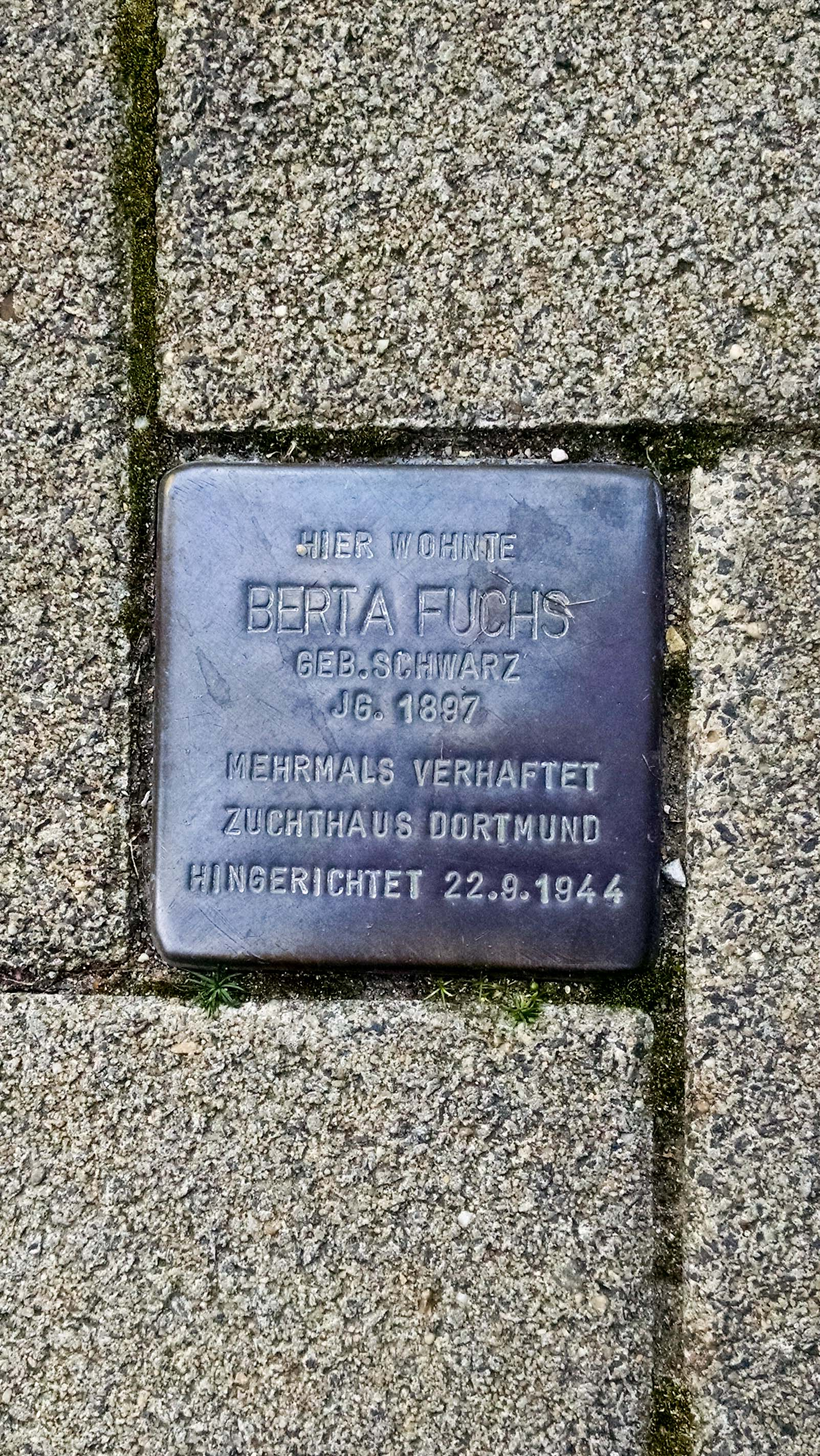 Berta was arrested multiple times and interred in Dortmund before being executed in August of 1944.