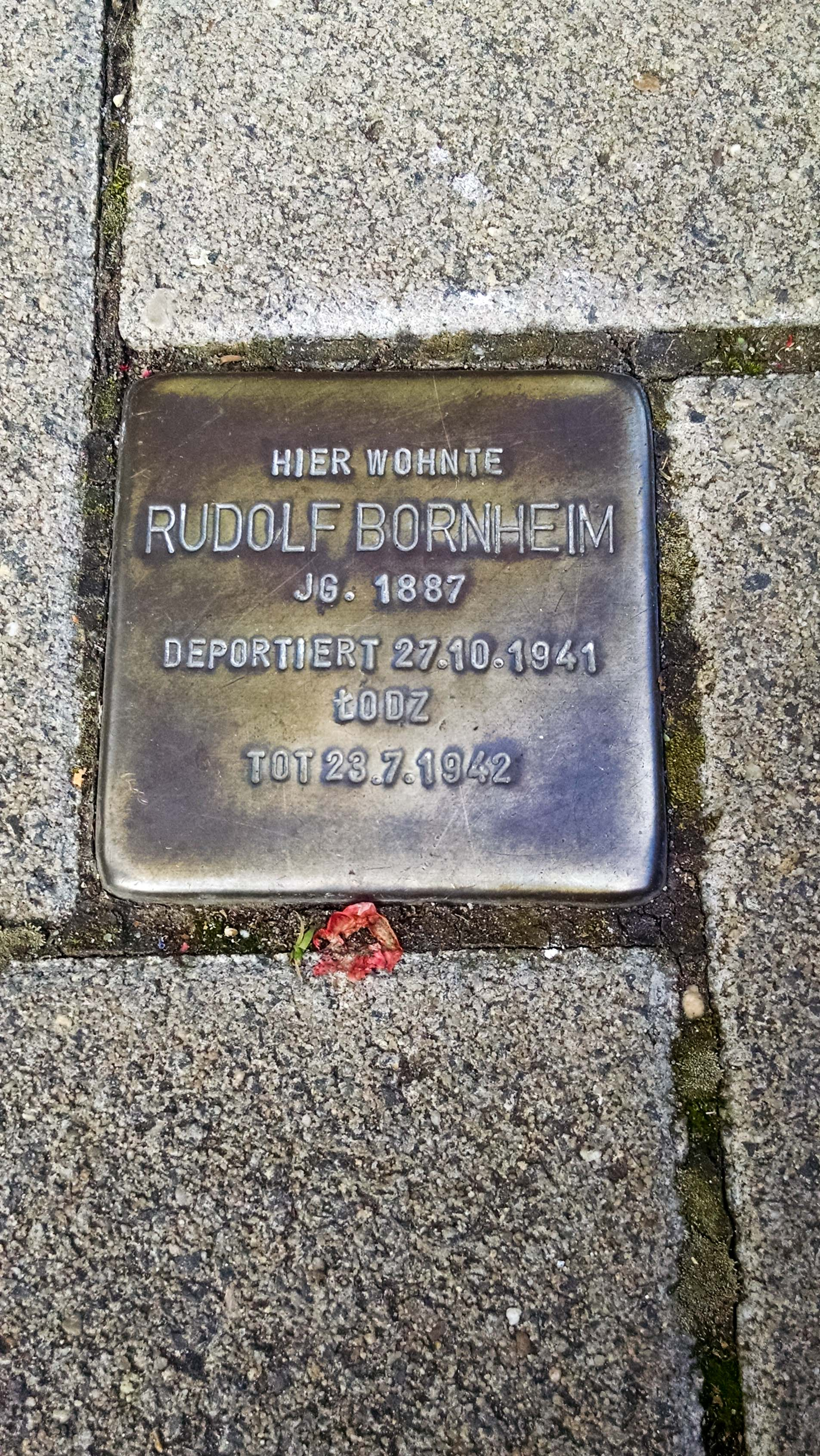 Rudolf was deported in October of 1941 and died in JuertaBly of 1942
