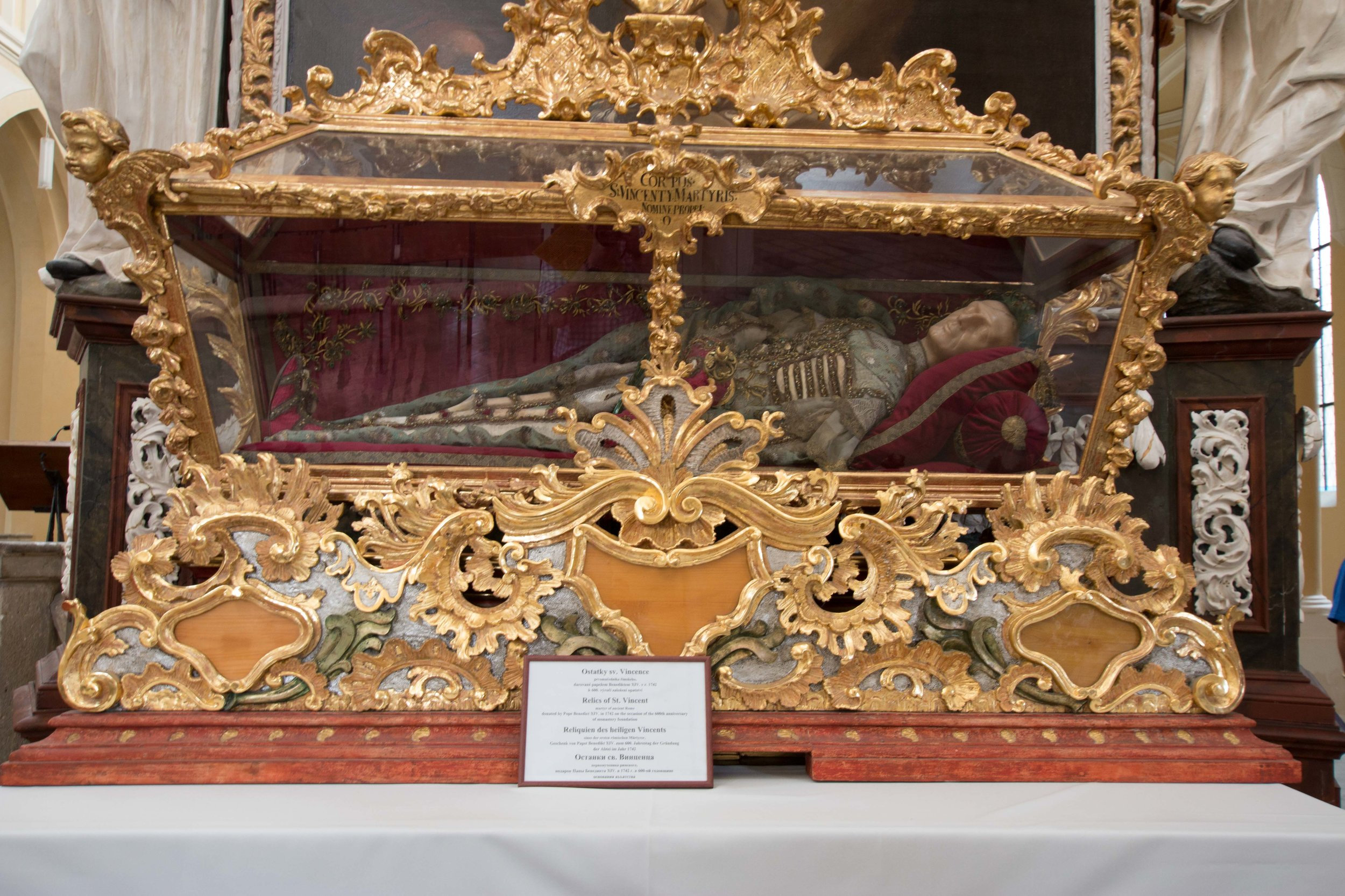 The relics of St. Vincent
