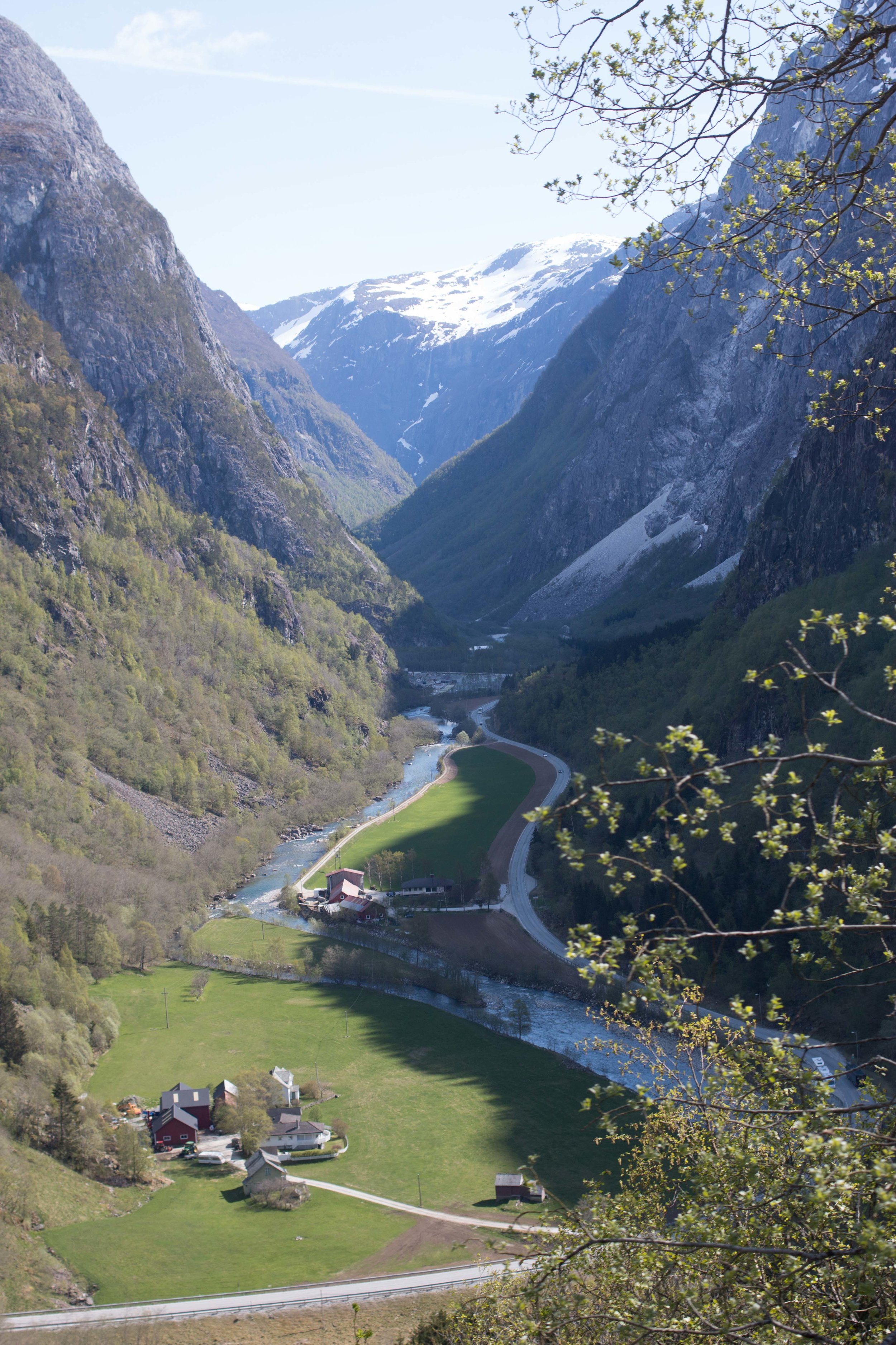 See that road down there....that's where our bus had to go. This is one of my favorite views from Norway!