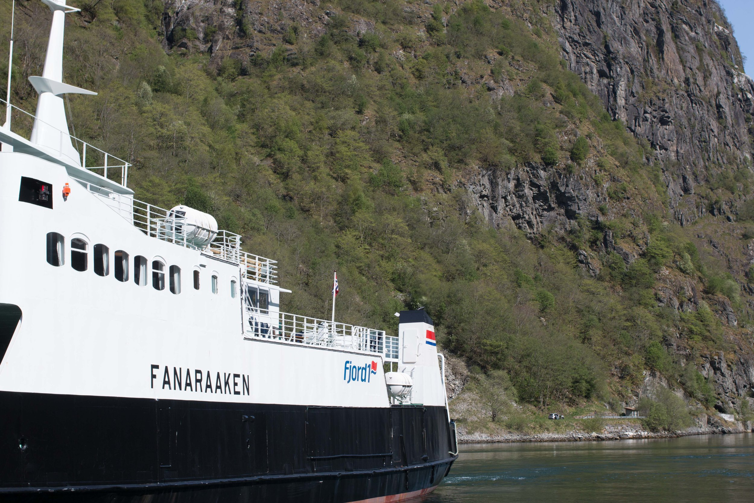 ferry for the fjord cruise