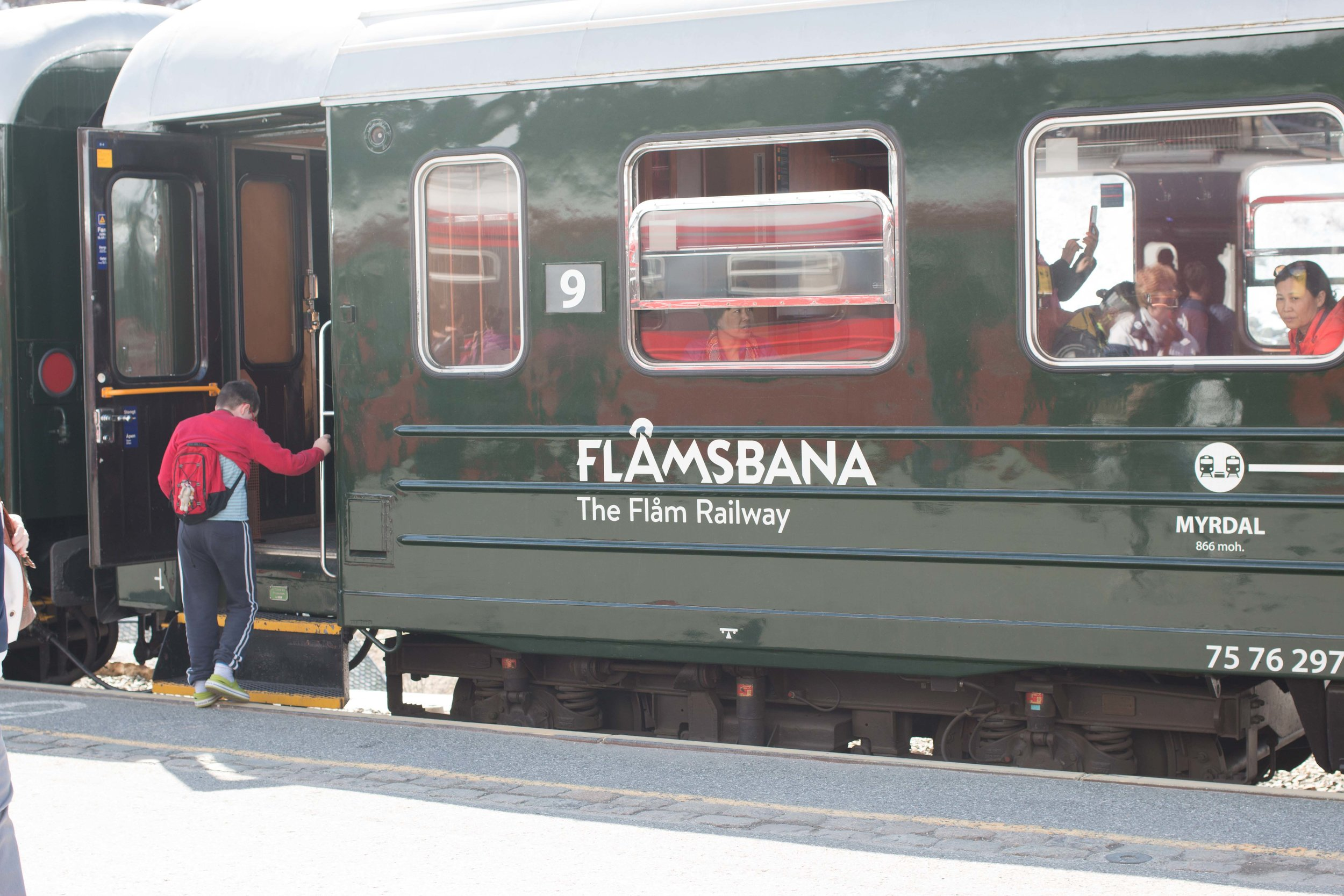 Vintage train for the Flam Railway