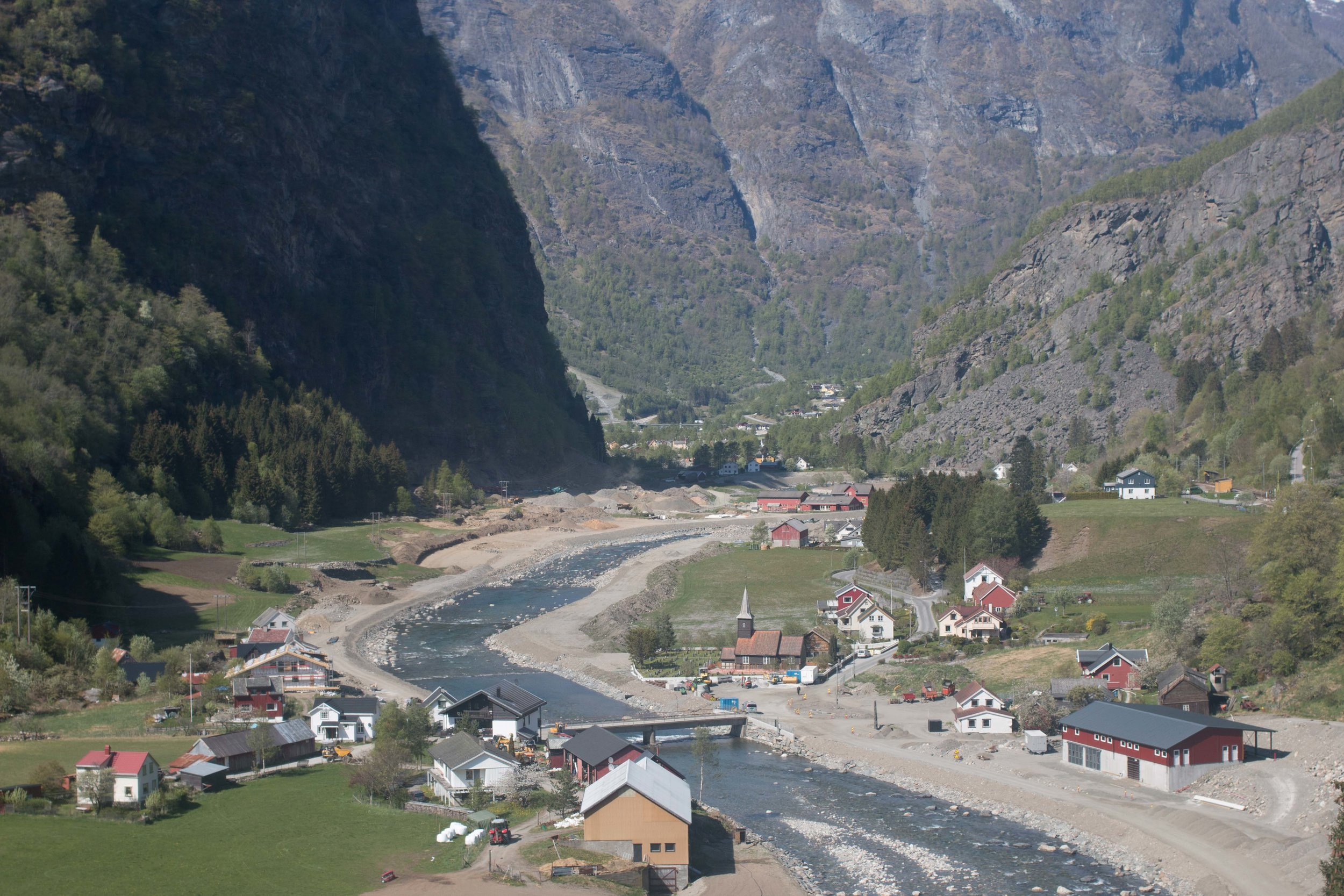 View of the Flam Valley from the train