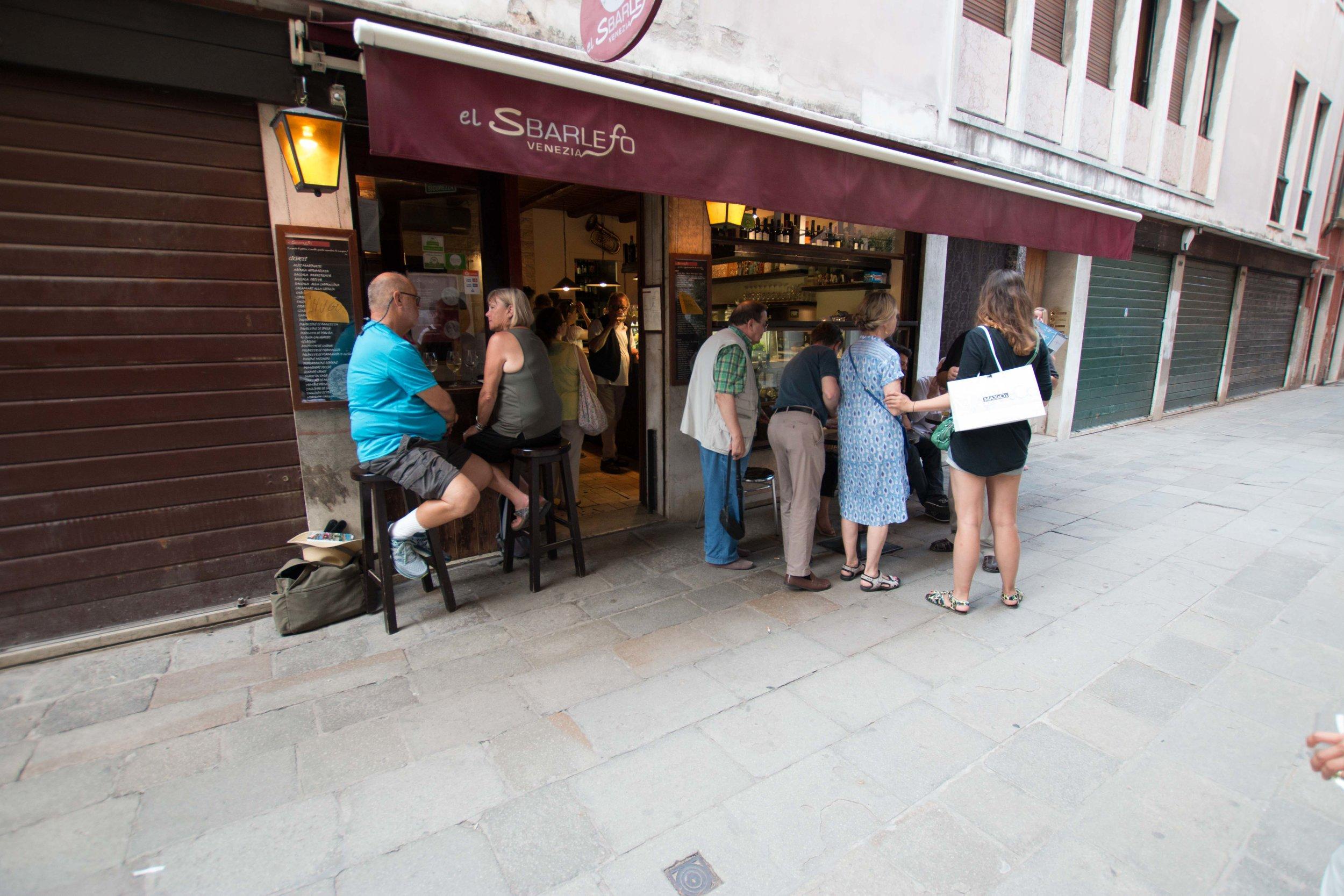 A wine and cicchetti bar in Venice