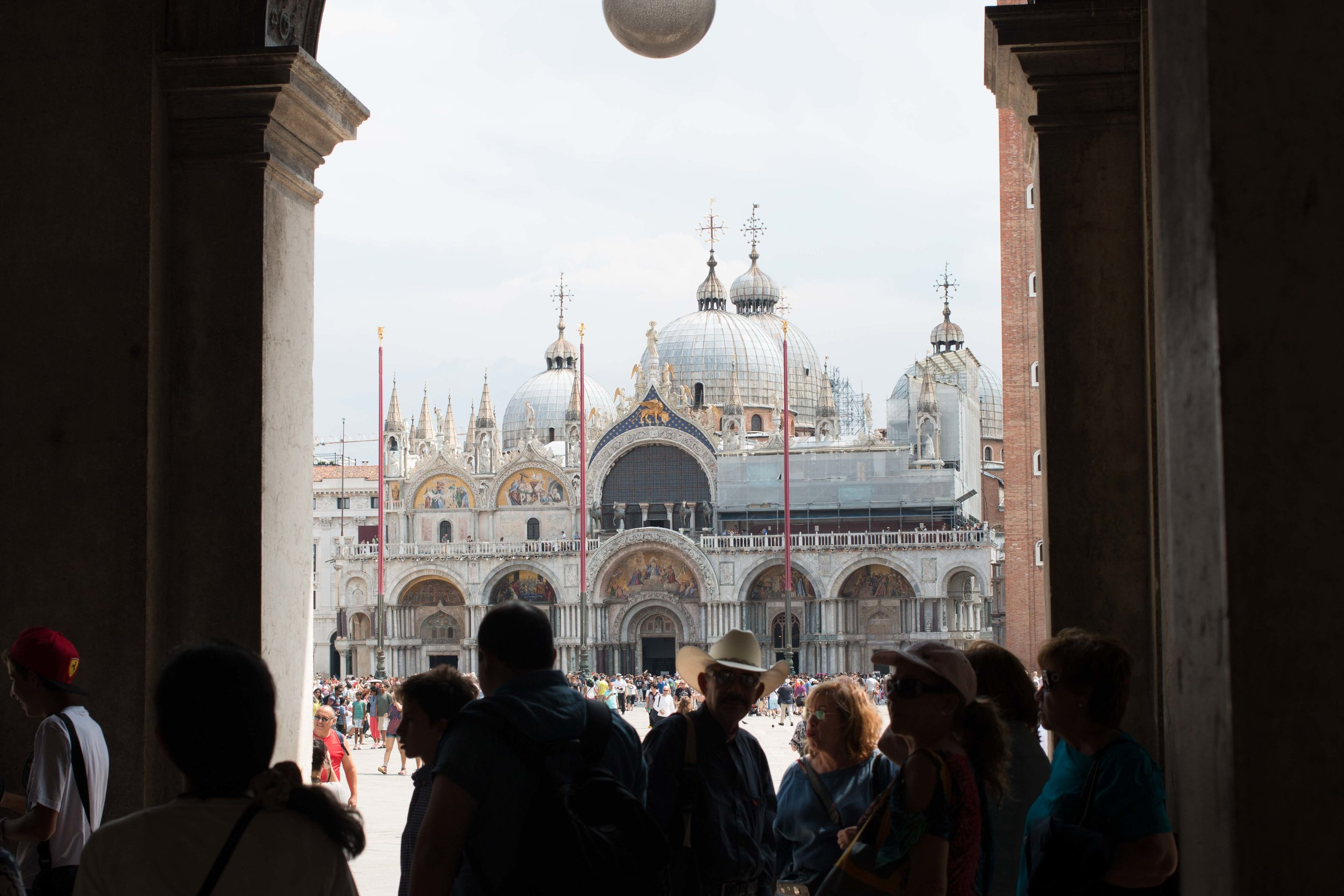 St. Mark's beyond the crowd