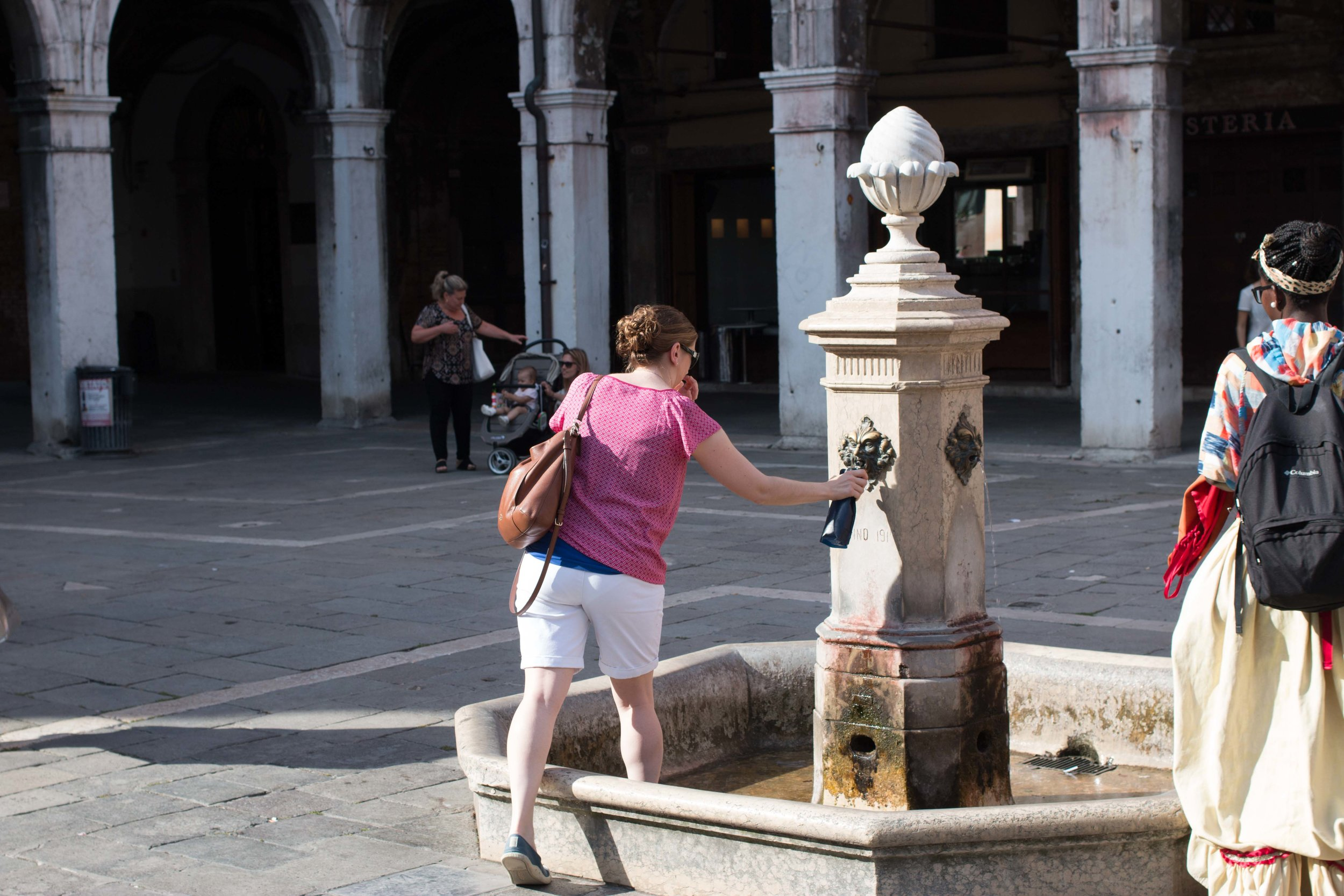 Thank god there are fountains all over Venice with free, potable water!