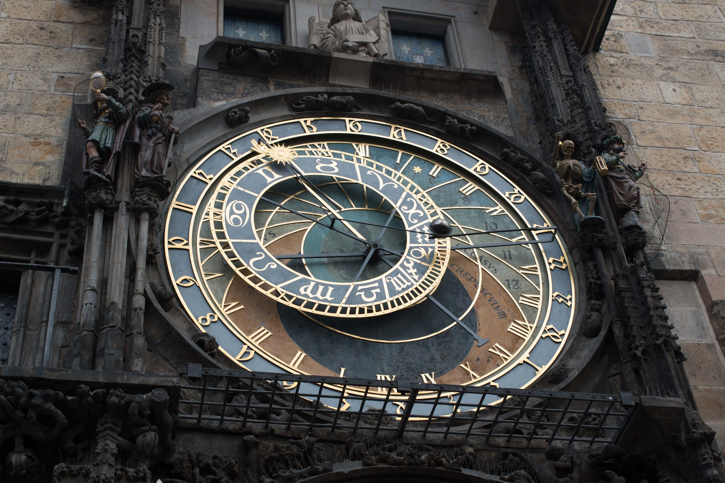 Astronomical Clock Prague Submerged Oaks