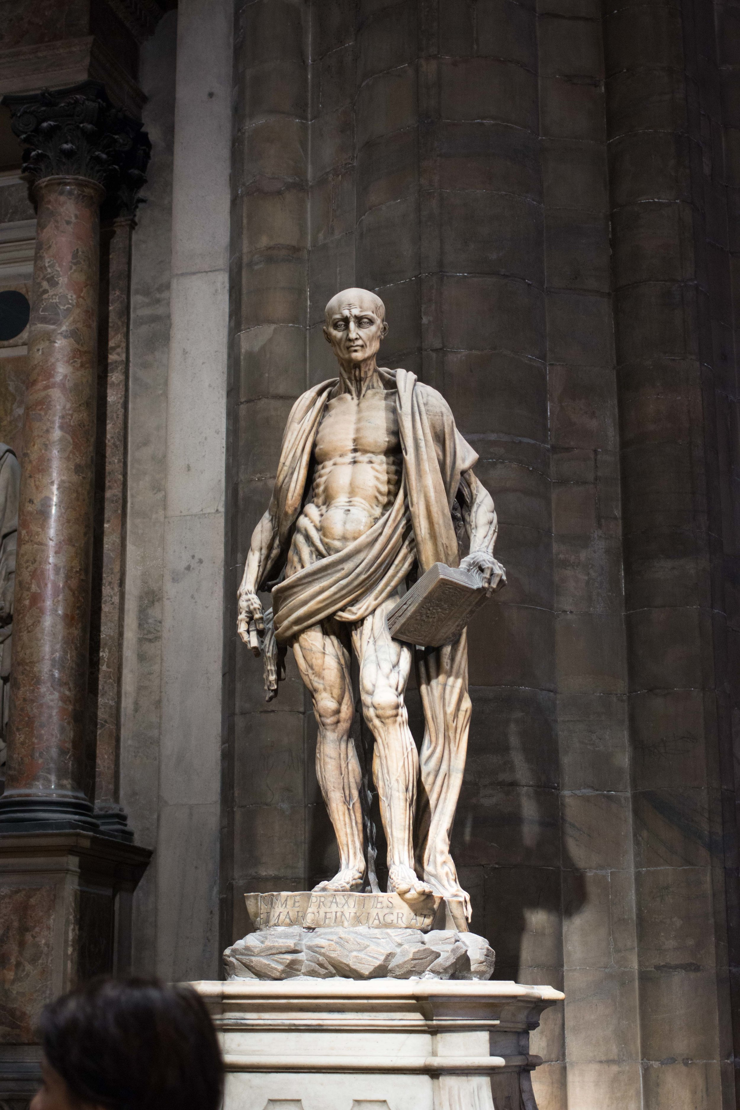 Statue of St. Bartholomew in the Milan Carthedral