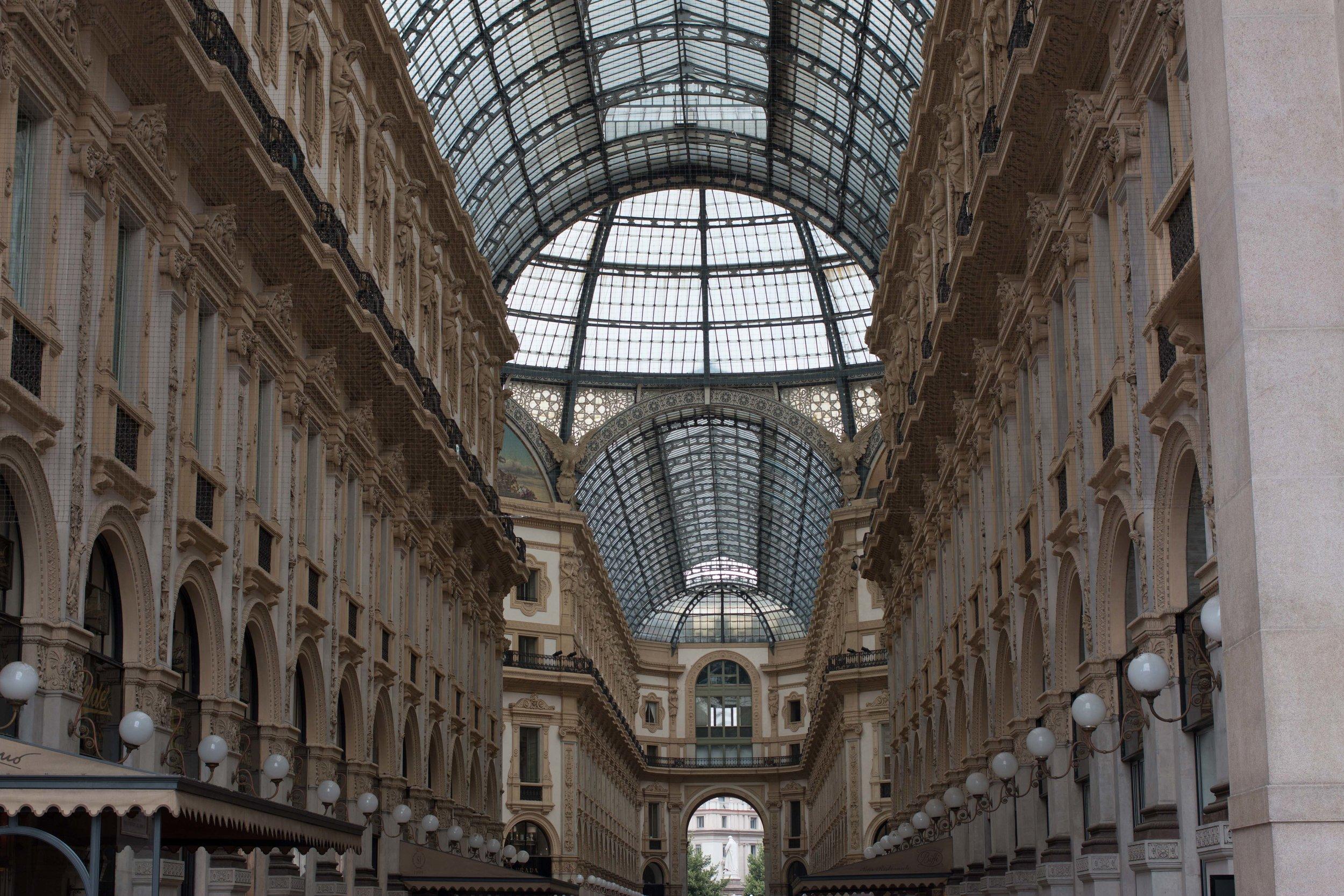 Galleria Vittoria Emanuele II central passage in Milan, Italy