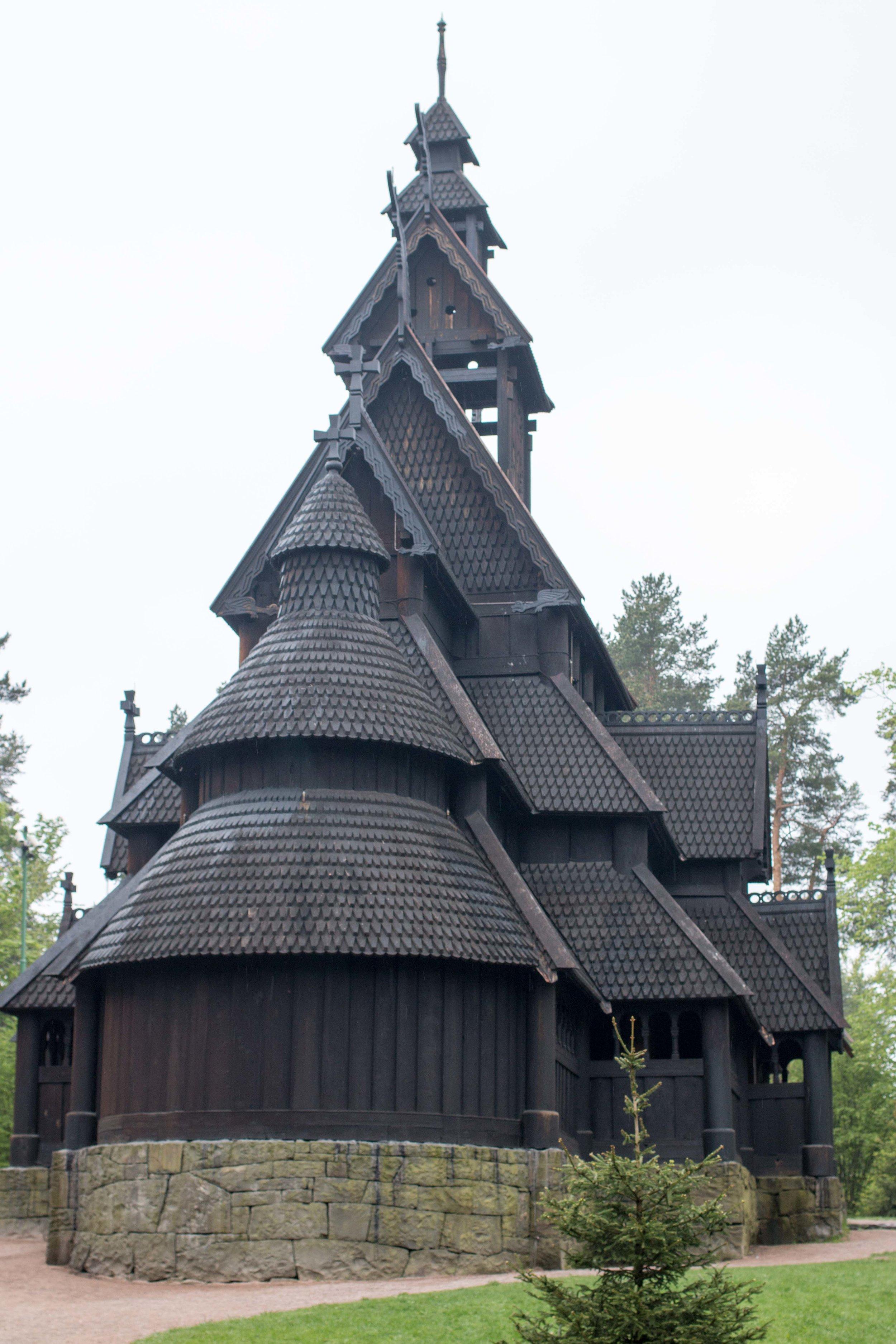 stave church oslo submerged oaks