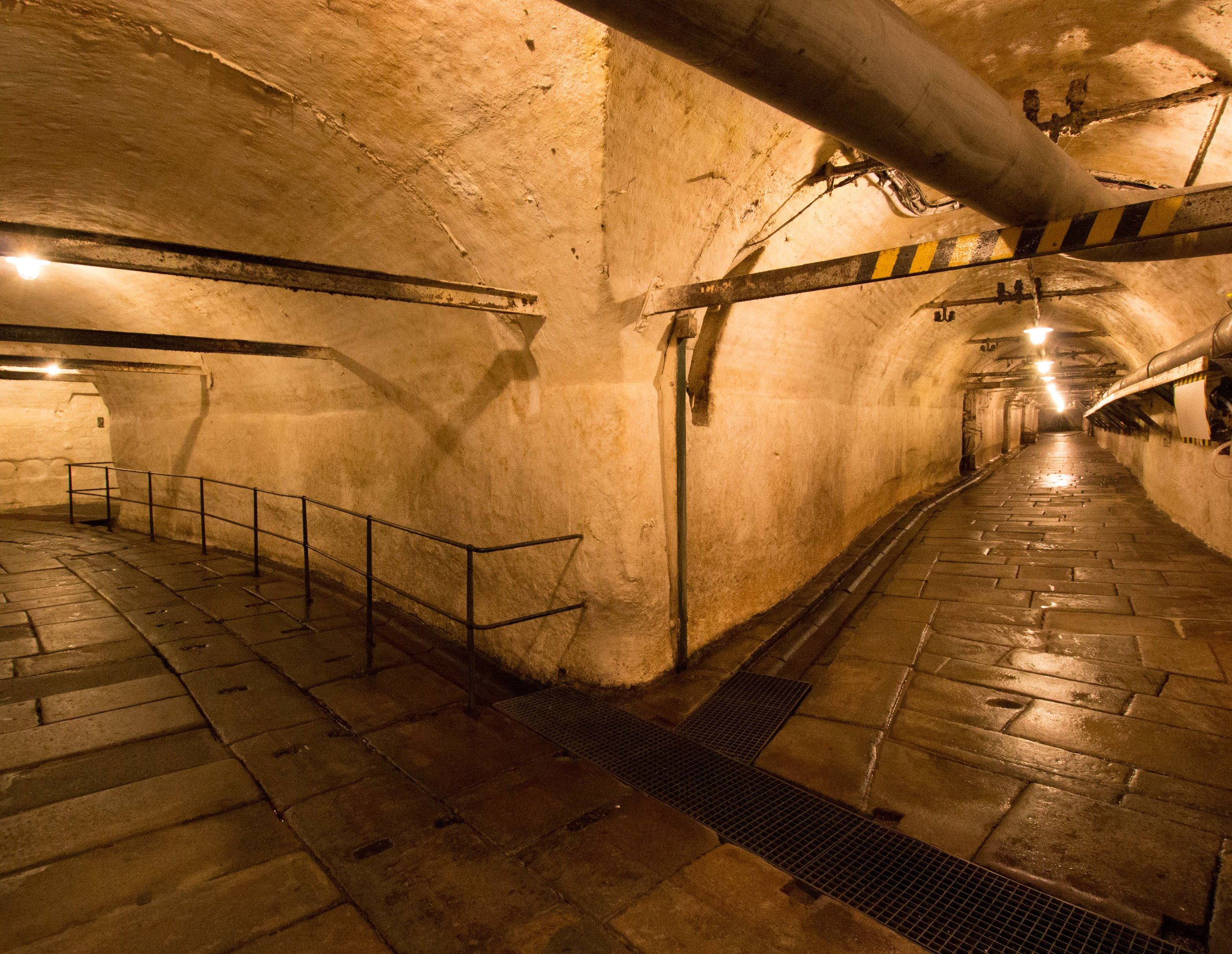 Tunnels under the Pilsner Urquell Brewery