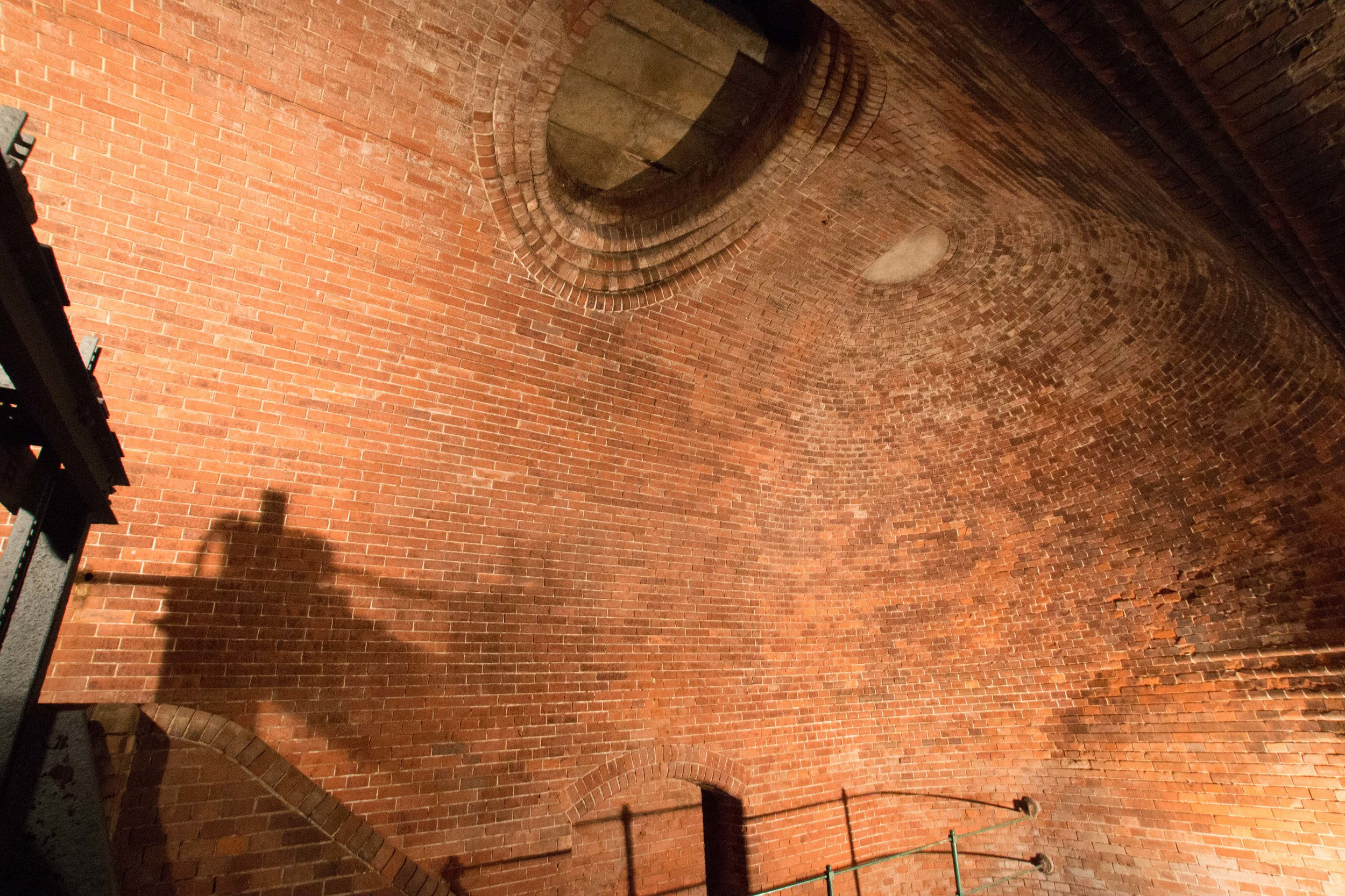 Amazing brick work - It's hard to tell, but that is a curved, oval shape, made from rectangular bricks. Seriously impressive Masonry!